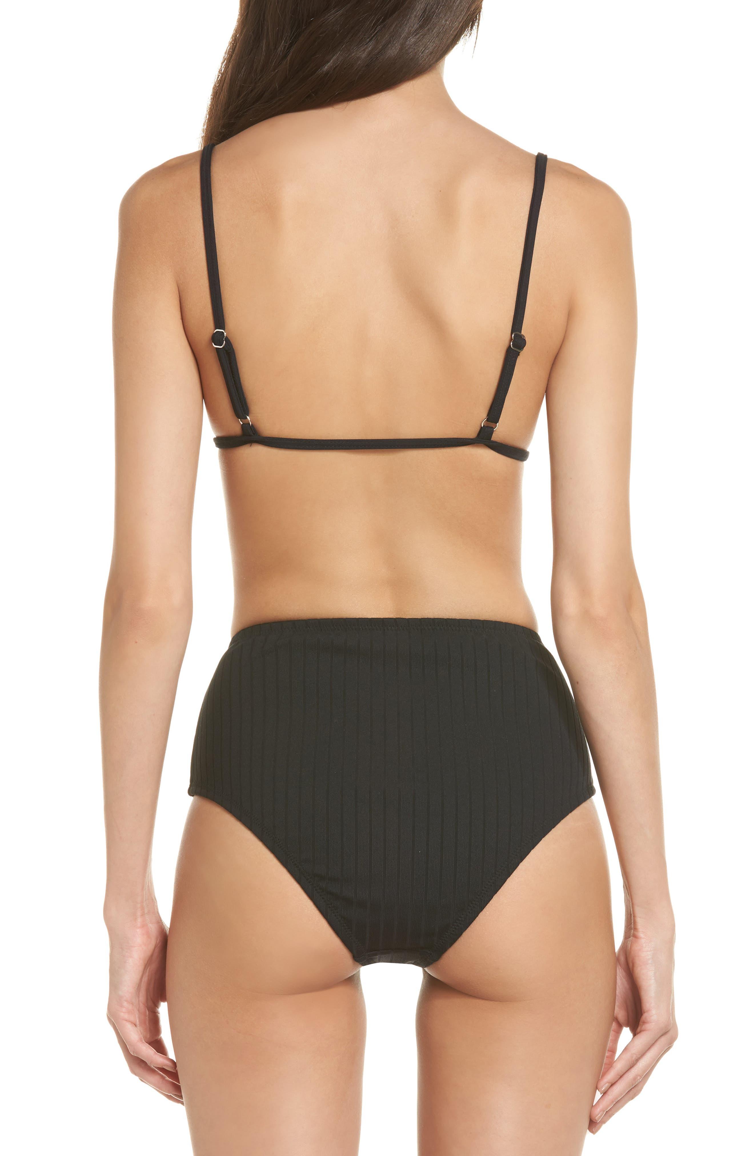 Westwood High Waist Bikini Bottoms,                             Alternate thumbnail 8, color,                             001