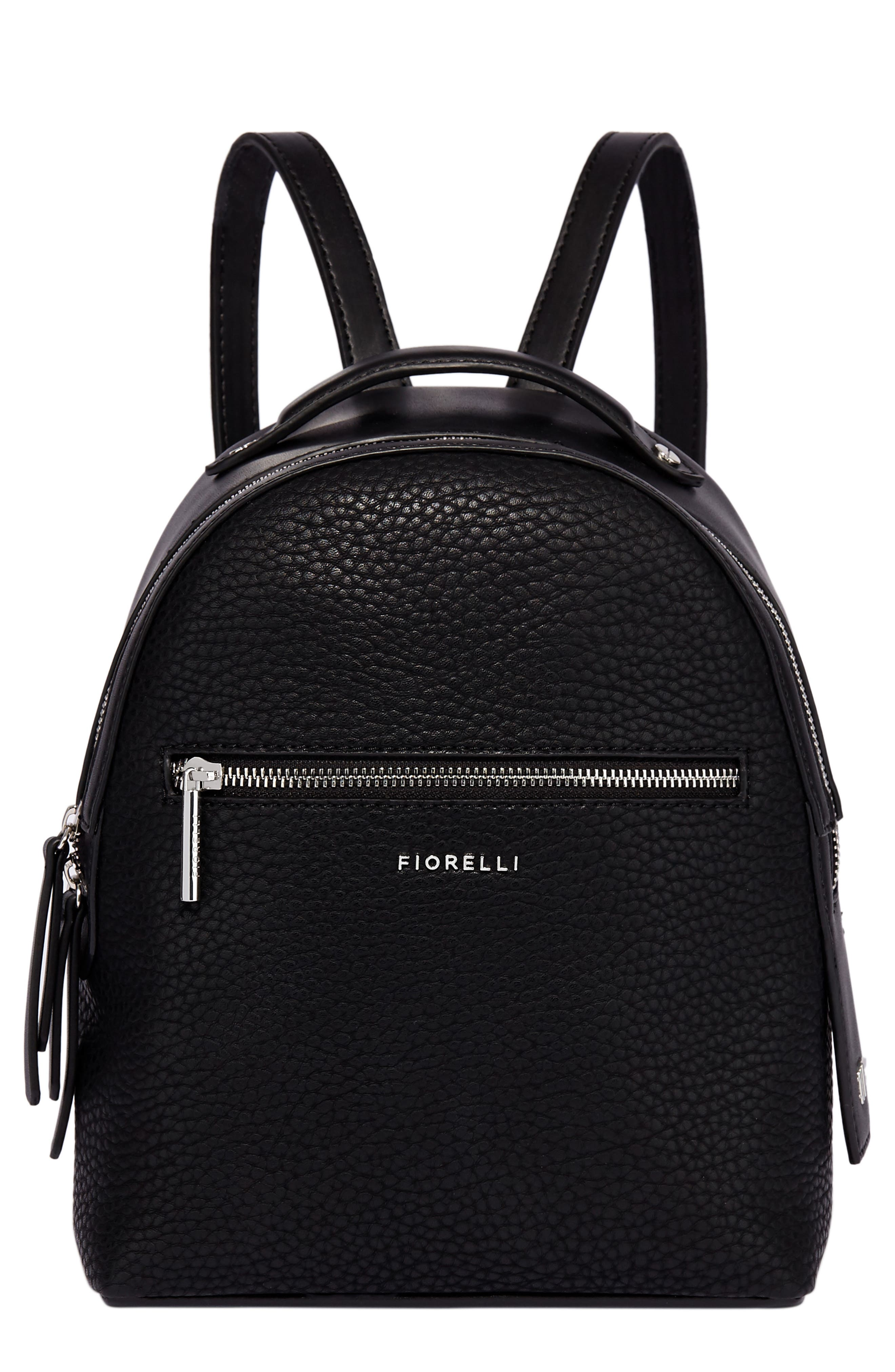 Small Anouk Faux Leather Backpack,                             Main thumbnail 1, color,                             BLACK