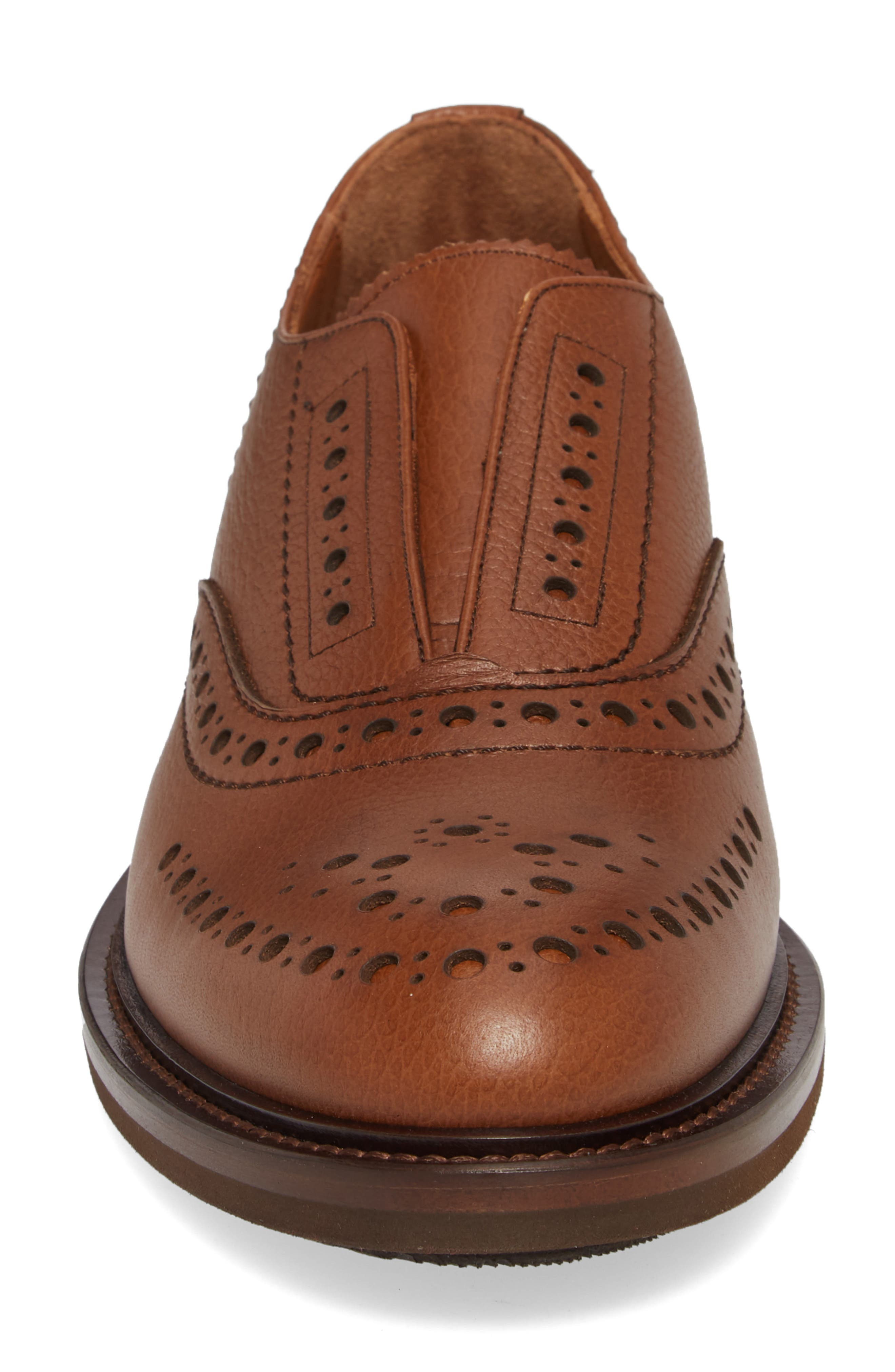 Romeo Weatherproof Laceless Oxford,                             Alternate thumbnail 4, color,                             NUT