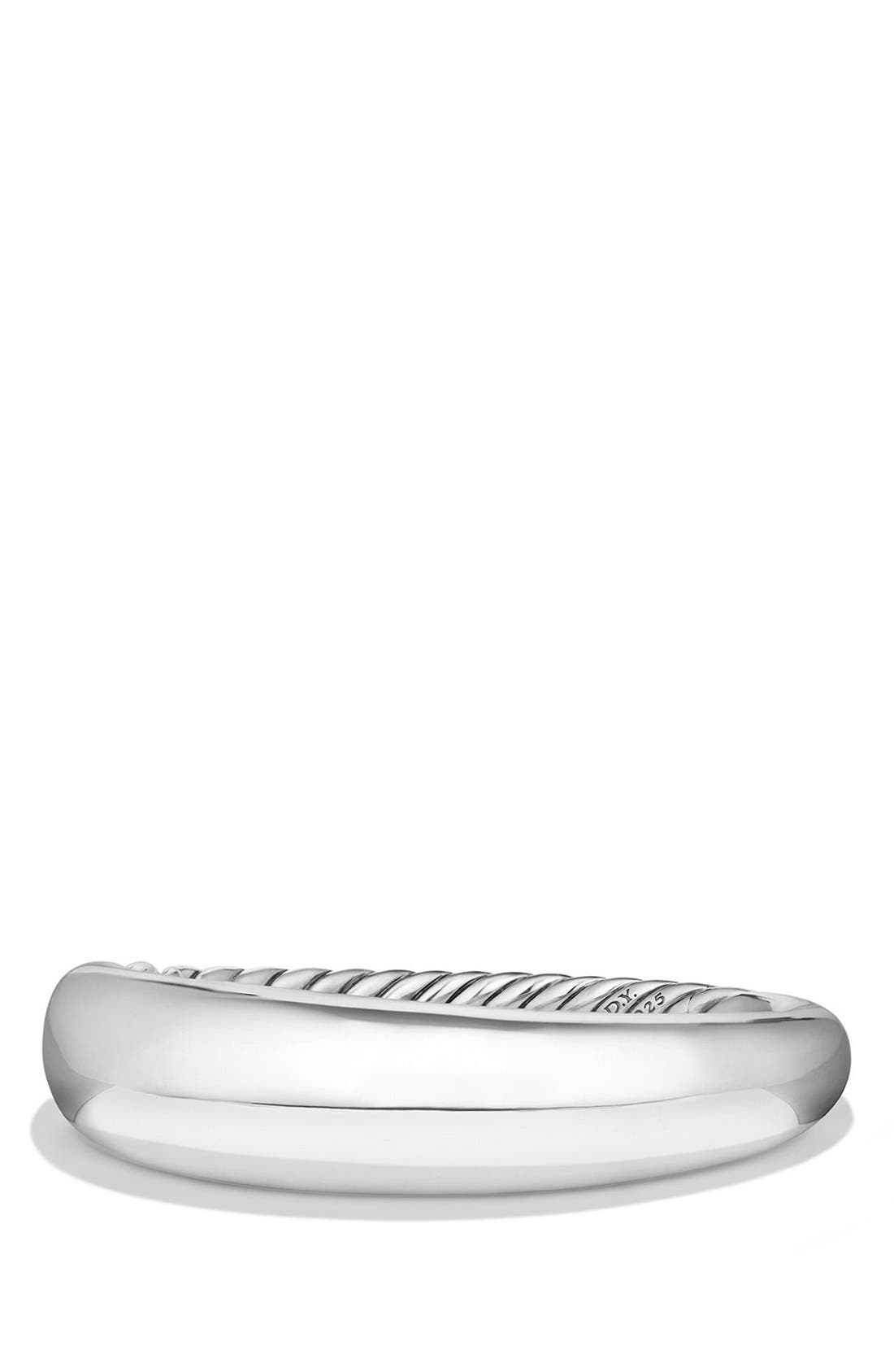 'Pure Form' Large Sterling Silver Bracelet,                         Main,                         color, SILVER