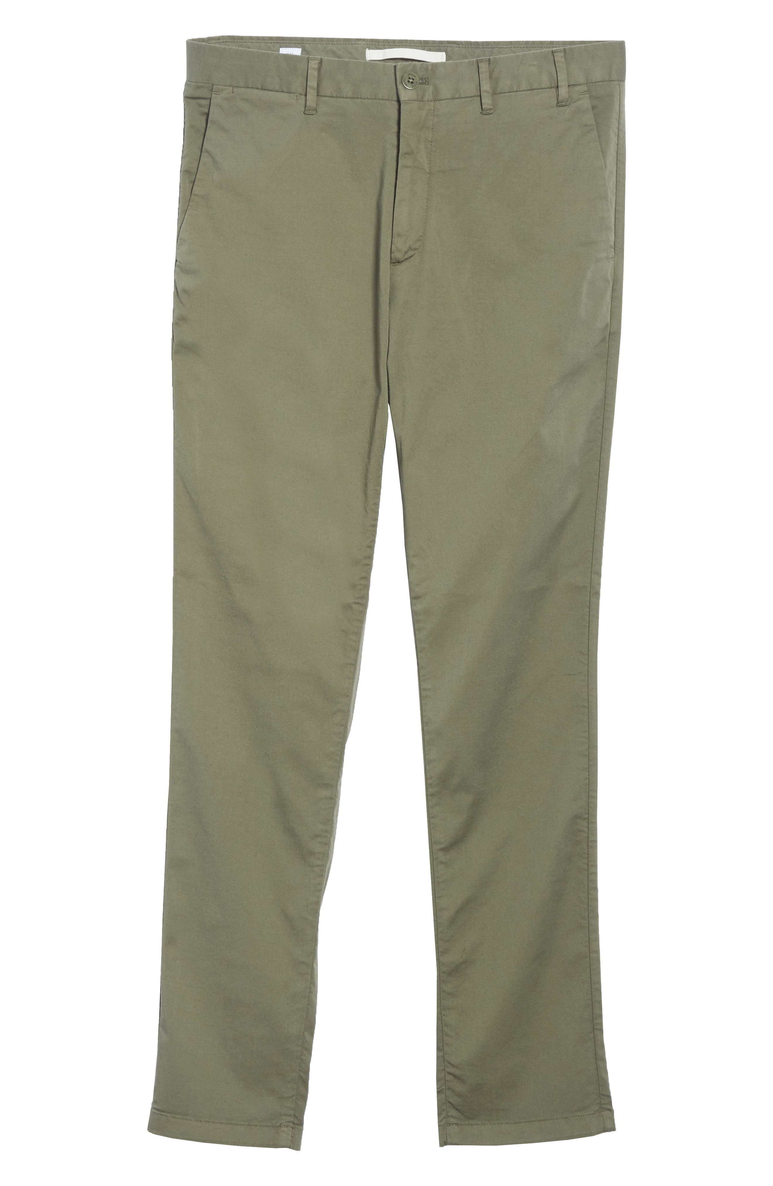 Aros Slim Fit Stretch Twill Pants,                             Alternate thumbnail 6, color,                             DRIED OLIVE