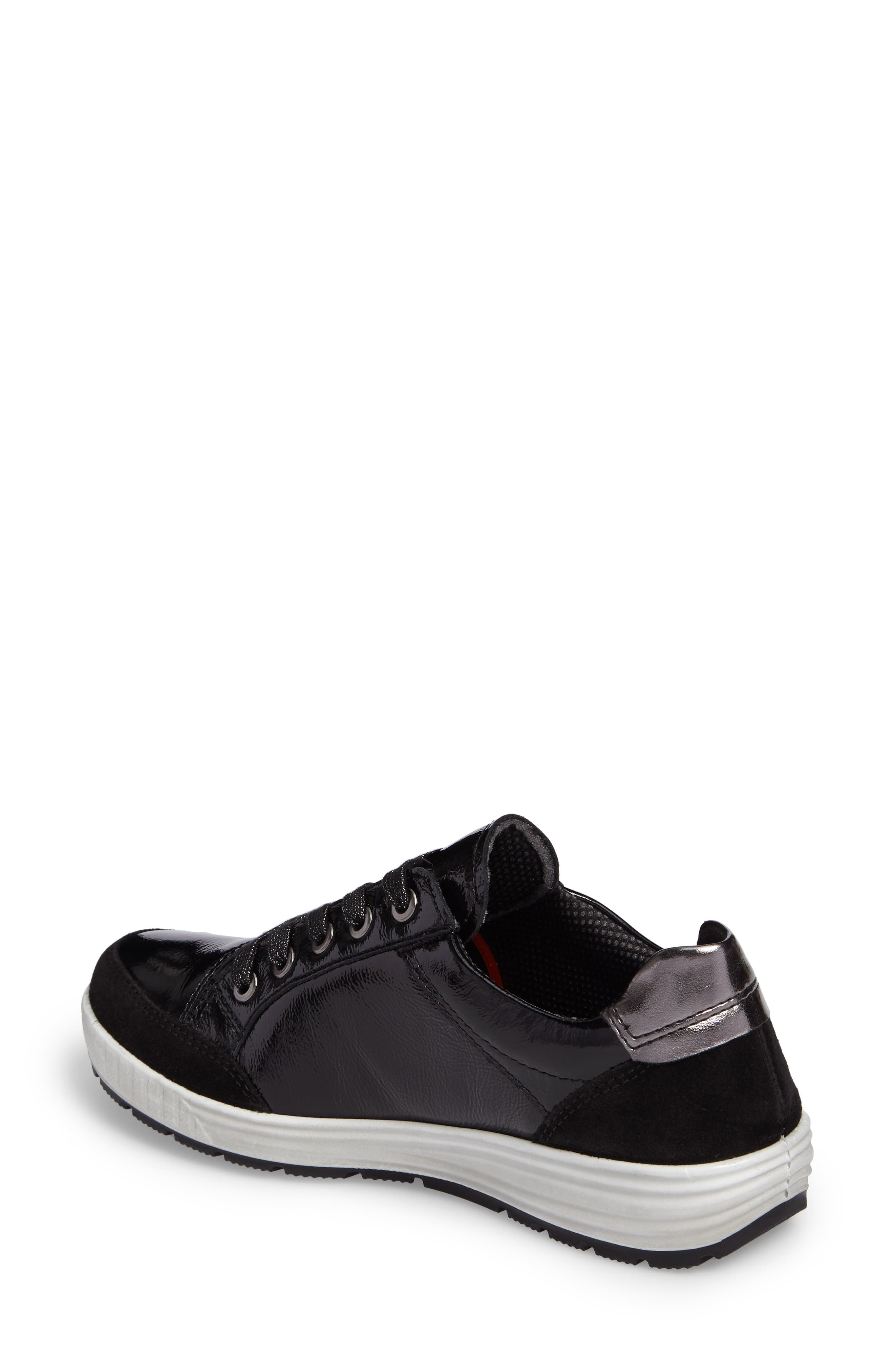 Nicole Sneaker,                             Alternate thumbnail 2, color,                             BLACK LEATHER