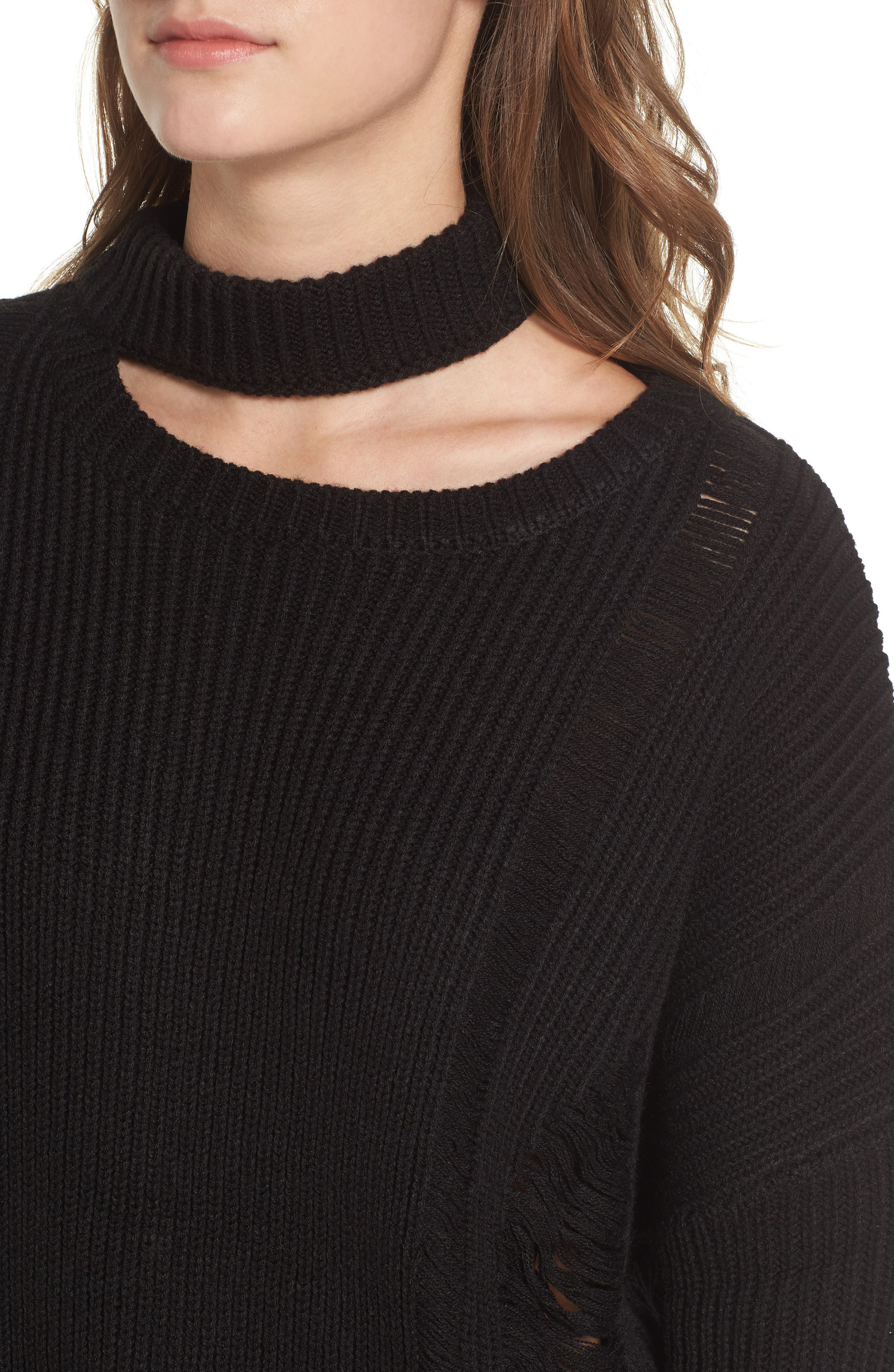 Destroyed Sweater,                             Alternate thumbnail 4, color,                             001