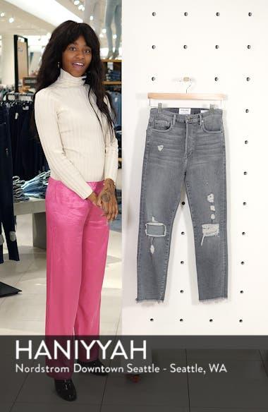 Le Original High Waist Raw Edge Jeans, sales video thumbnail