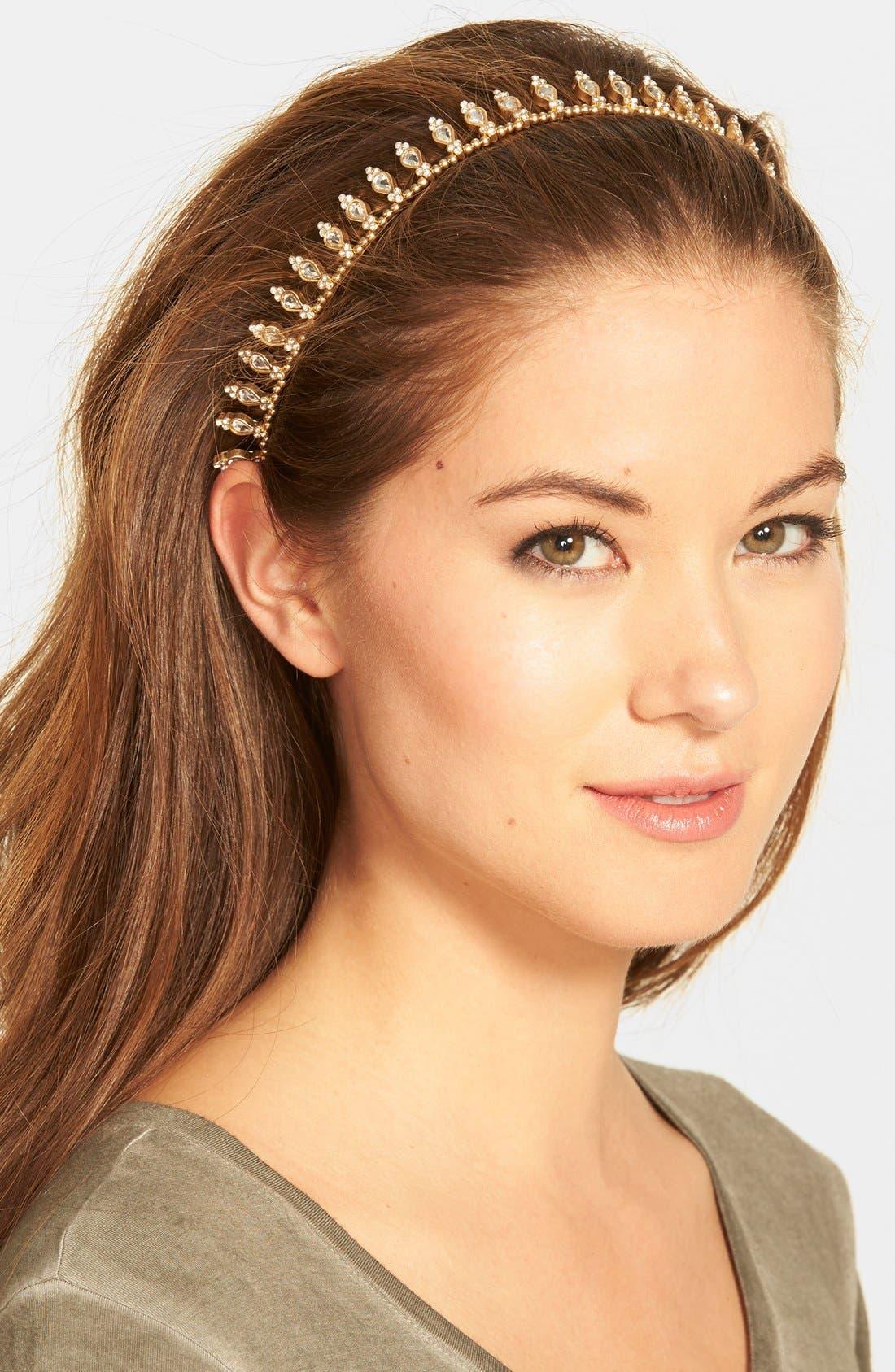 Jeweled Crown Head Wrap,                             Main thumbnail 1, color,                             710