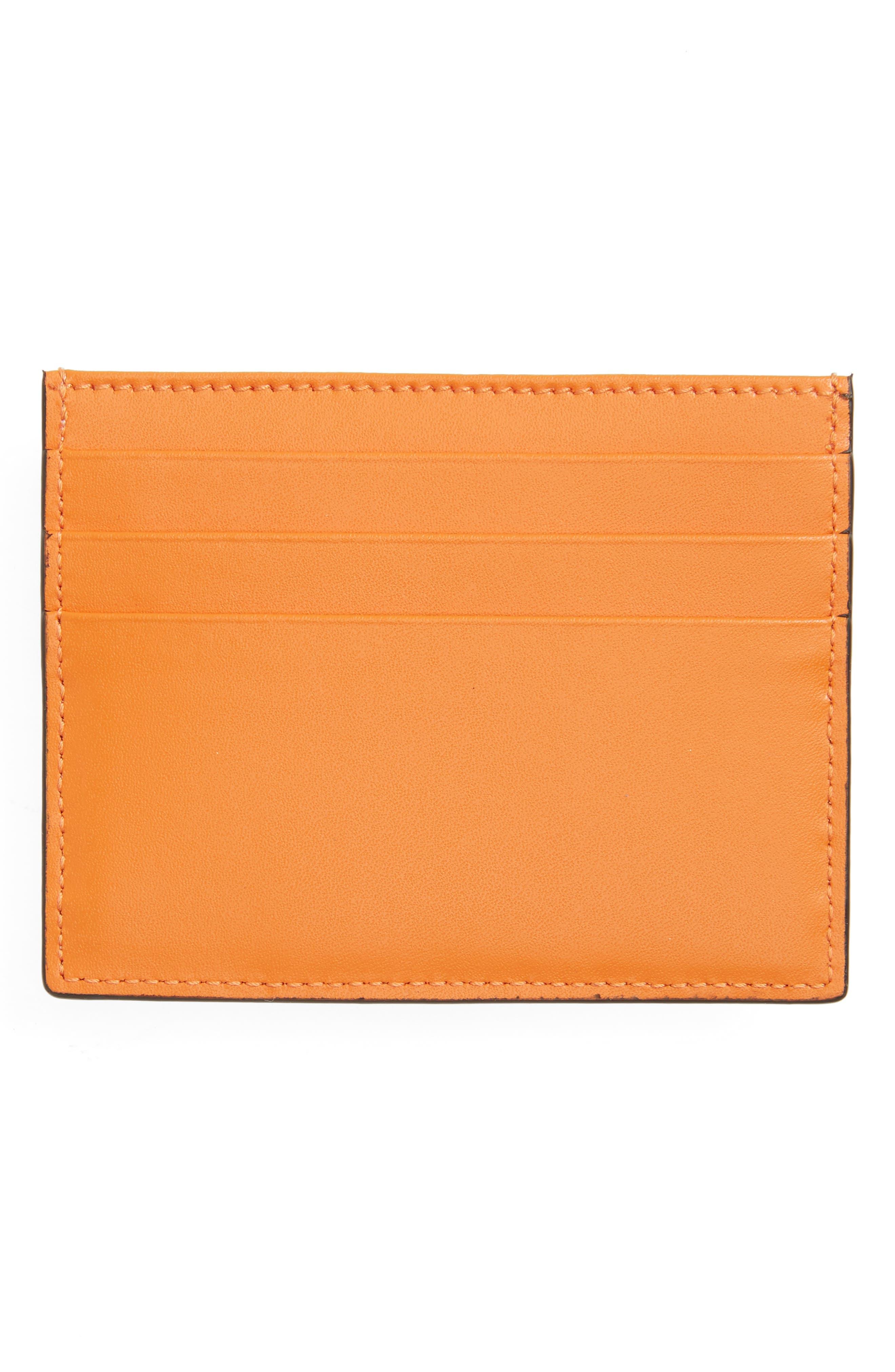 Rainbow Stud Leather Card Case,                             Alternate thumbnail 2, color,                             250