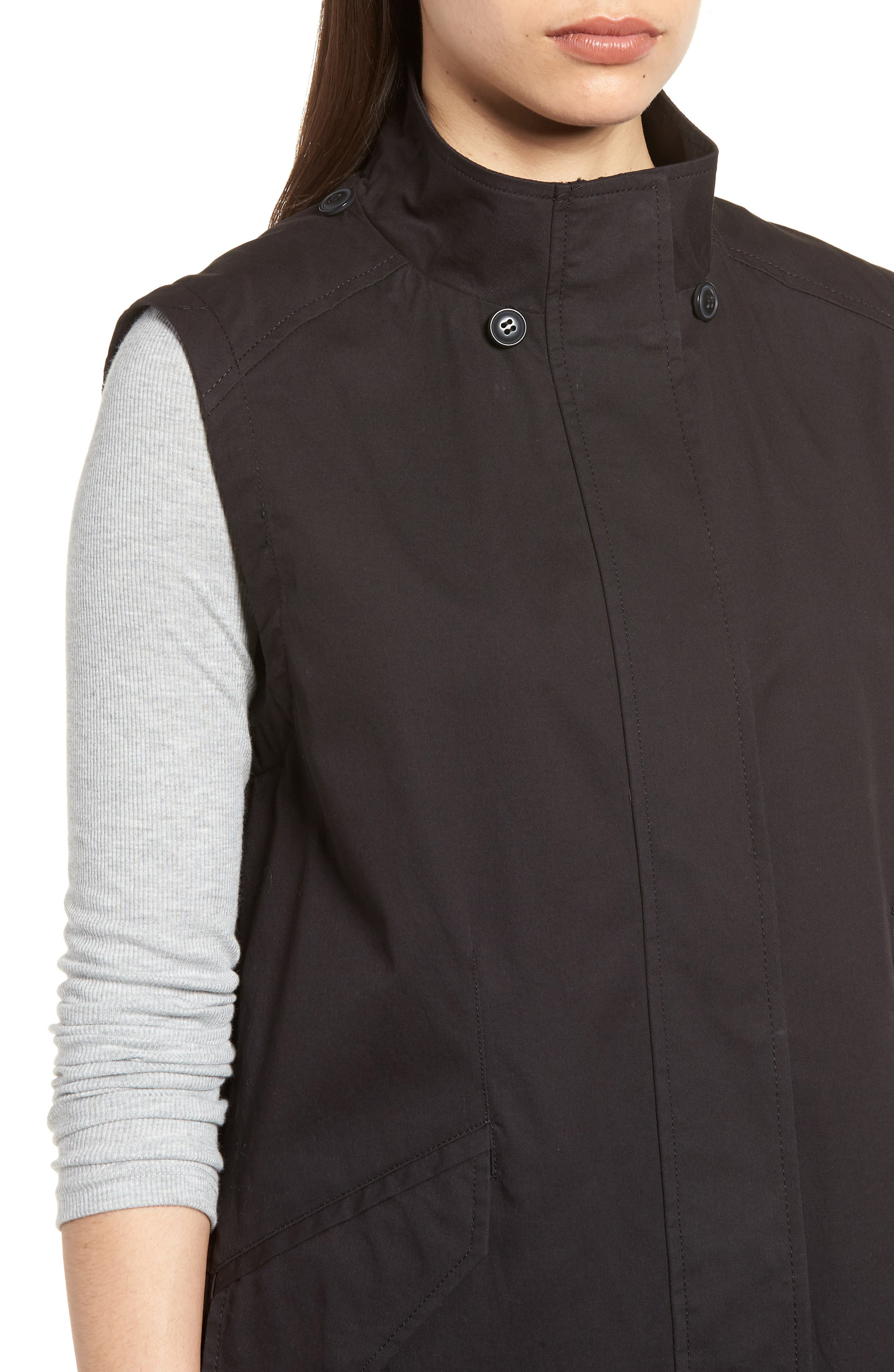 Elongated Hooded Vest,                             Alternate thumbnail 4, color,                             001
