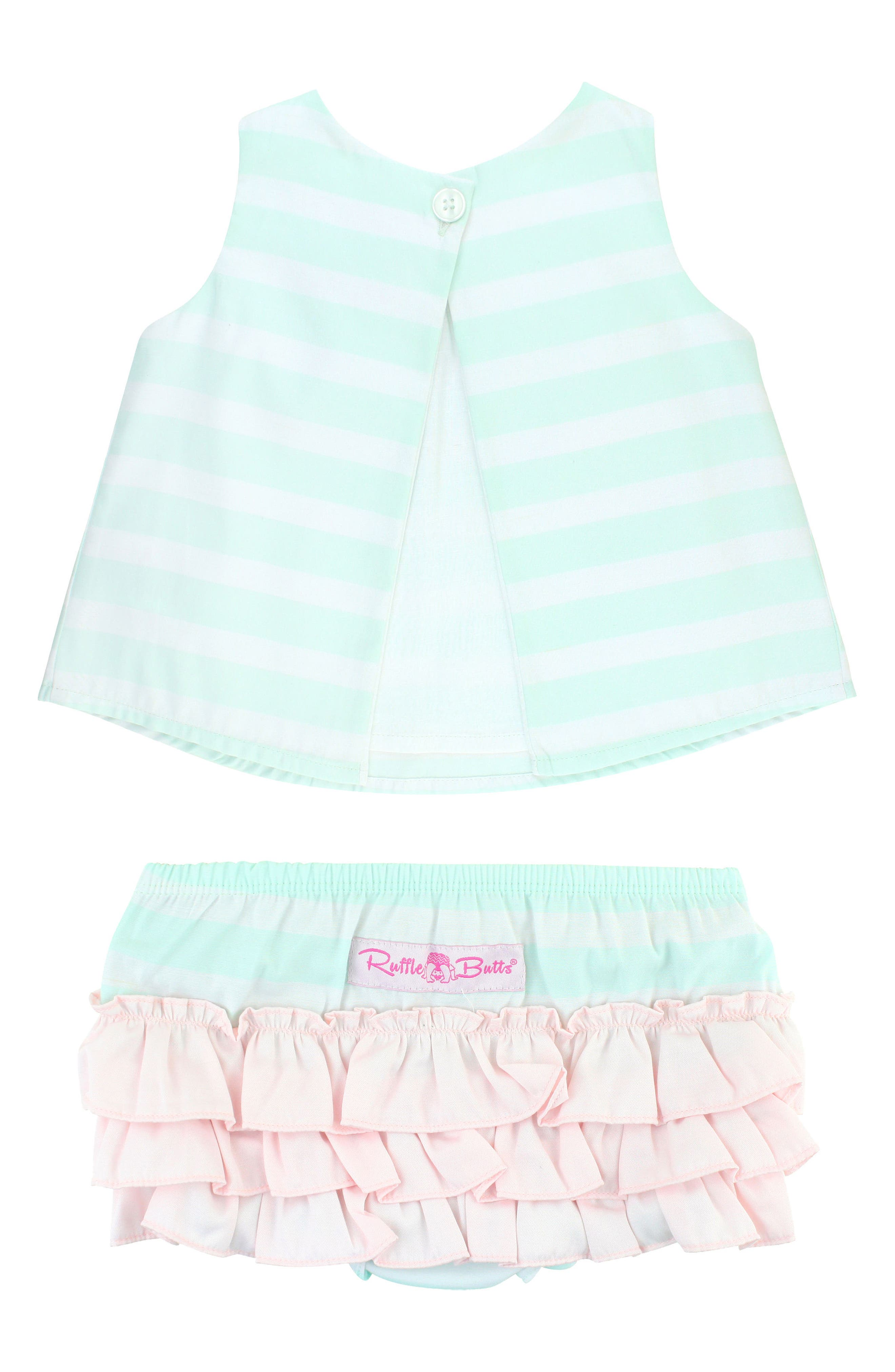Stripe Swing Top & Bloomers Set,                             Alternate thumbnail 2, color,                             AQUA