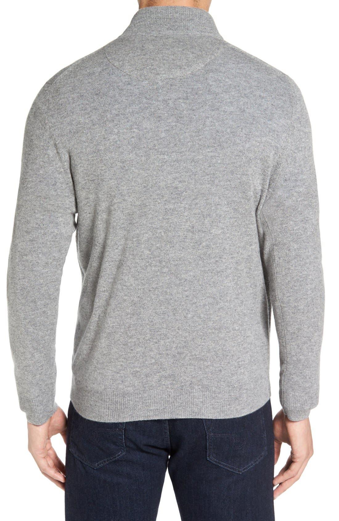 Cashmere Quarter Zip Sweater,                             Alternate thumbnail 17, color,