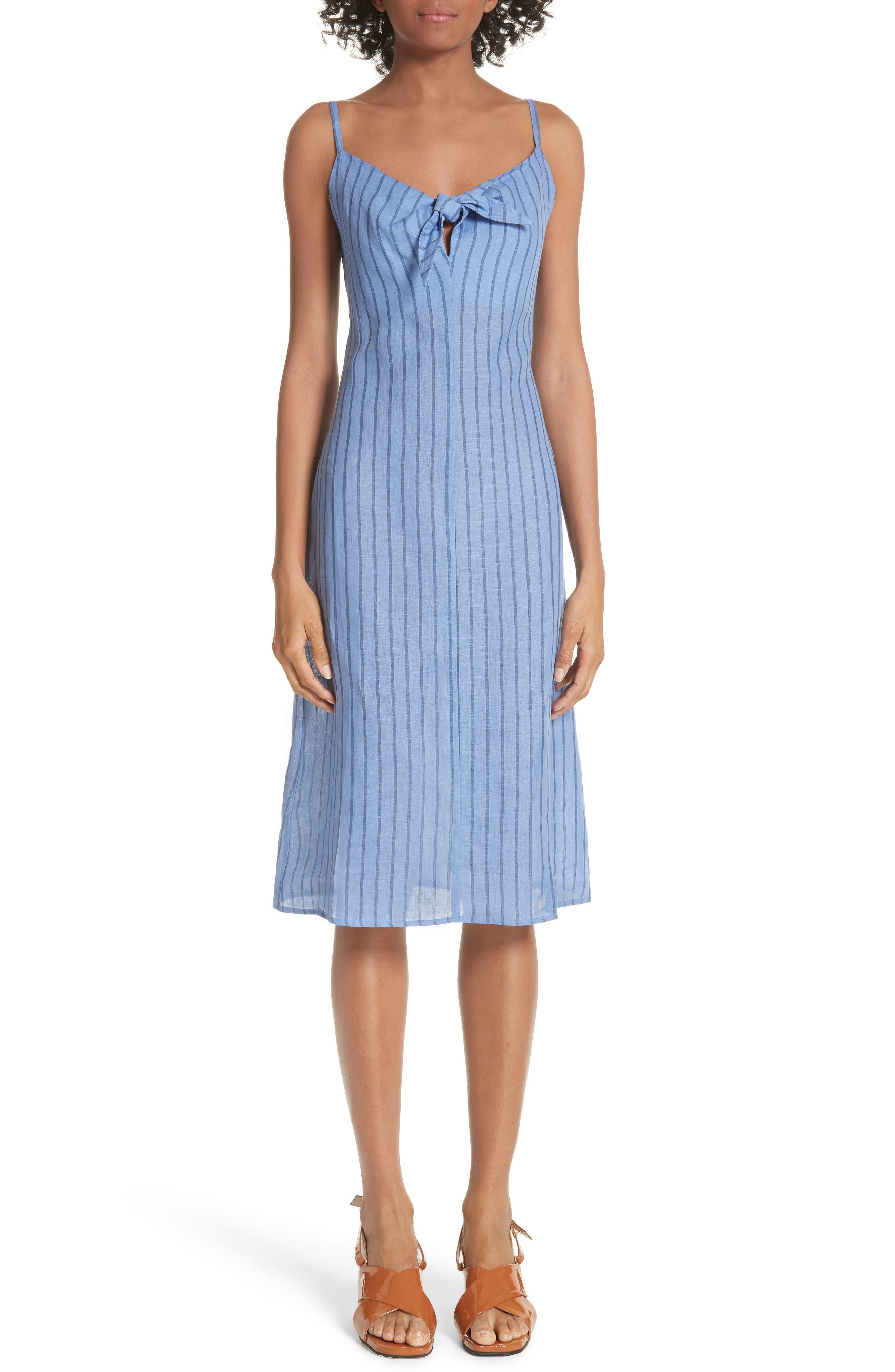 Oriska Stripe Linen Slipdress,                         Main,                         color, 400