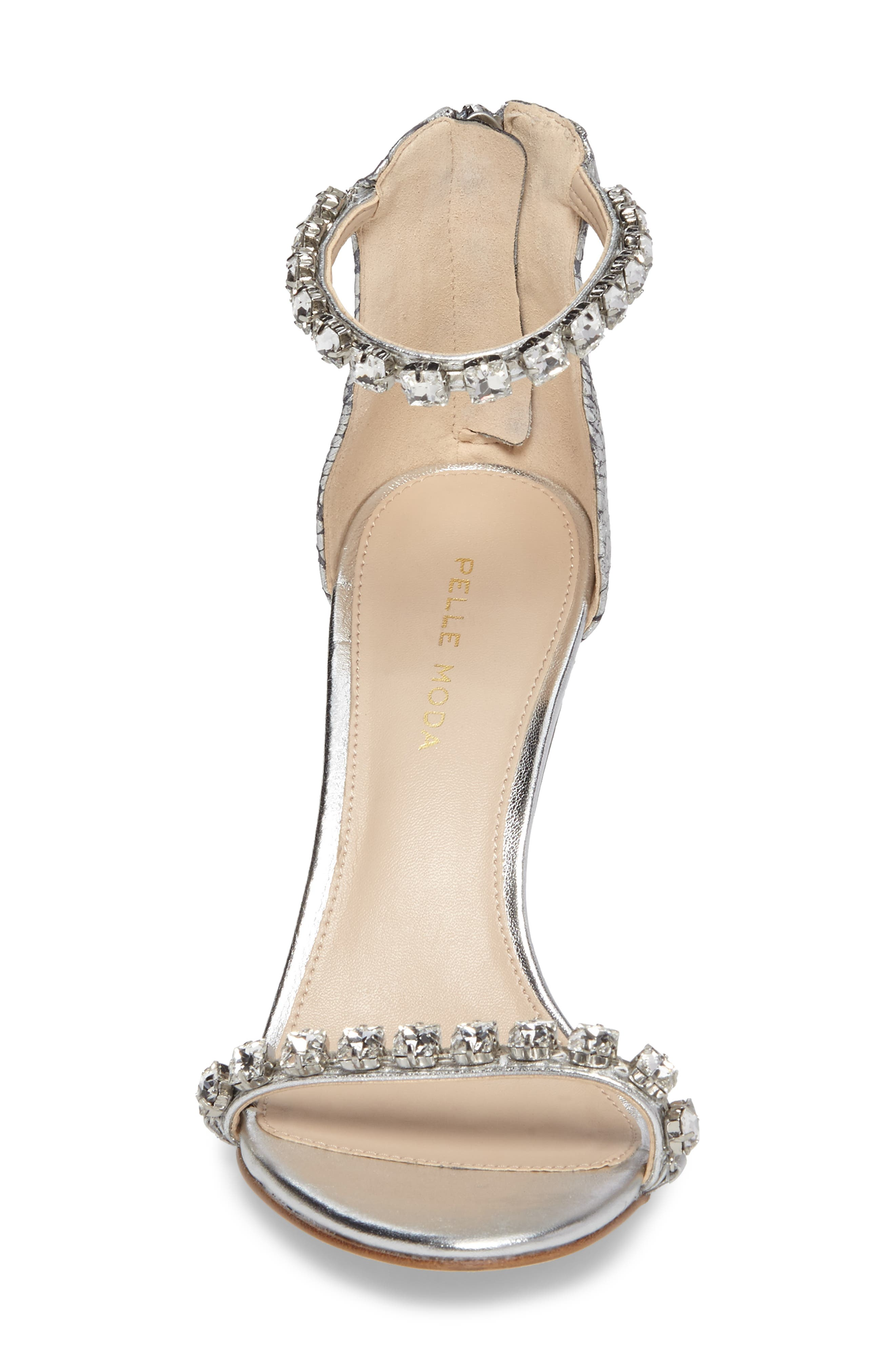 Frisk Embellished Sandal,                             Alternate thumbnail 4, color,                             SILVER