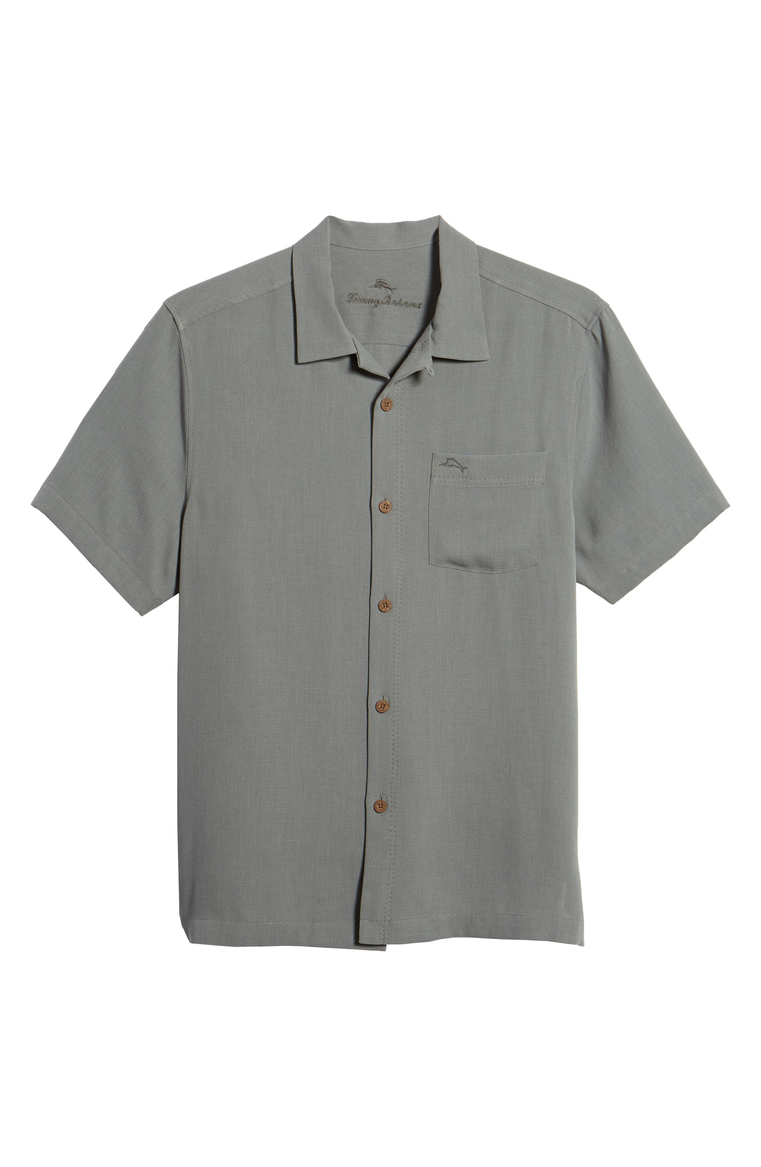 Royal Bermuda Standard Fit Silk Blend Camp Shirt,                             Alternate thumbnail 6, color,                             050