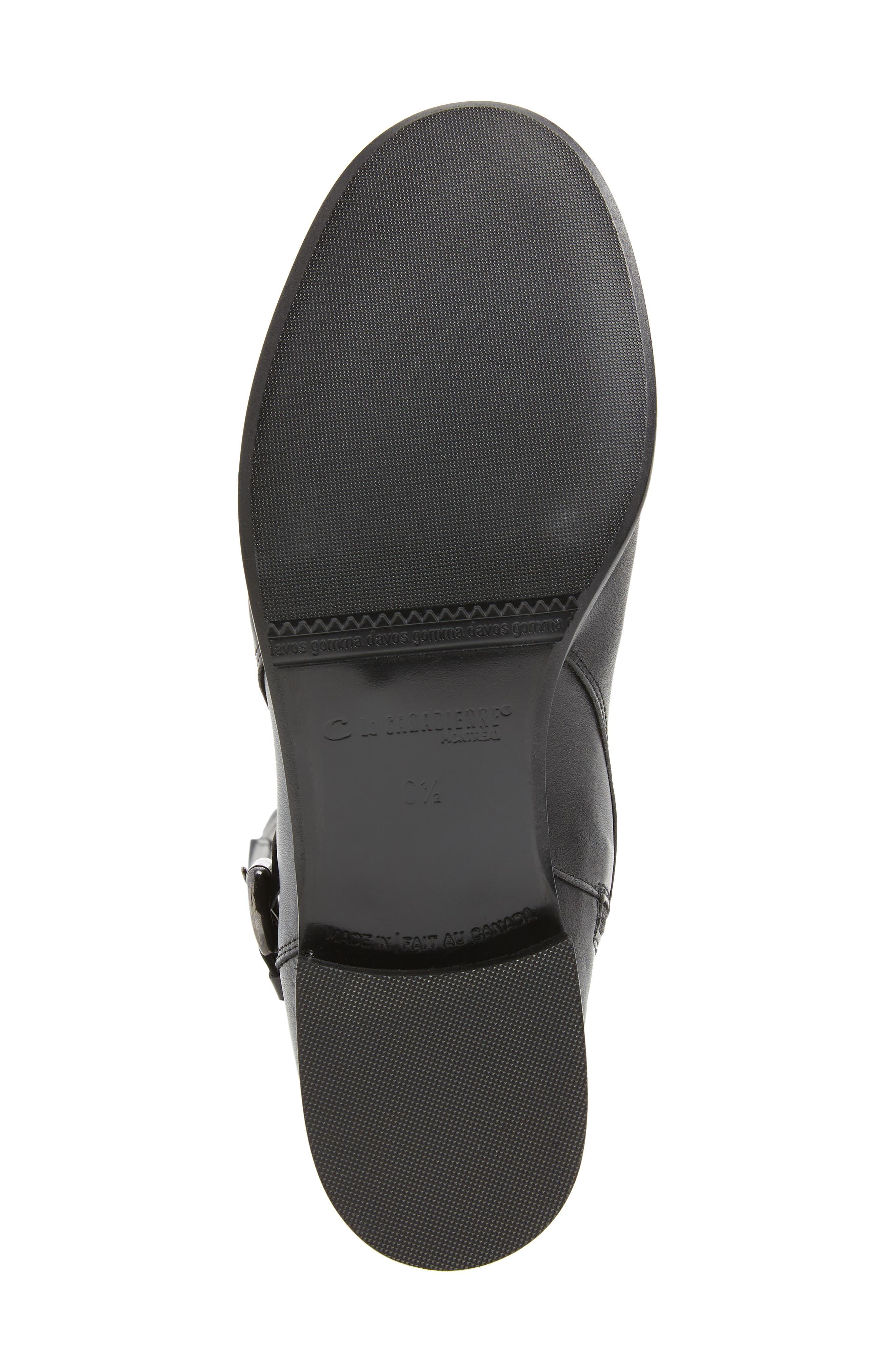 'Stefanie' Waterproof Boot,                             Alternate thumbnail 7, color,                             BLACK LEATHER