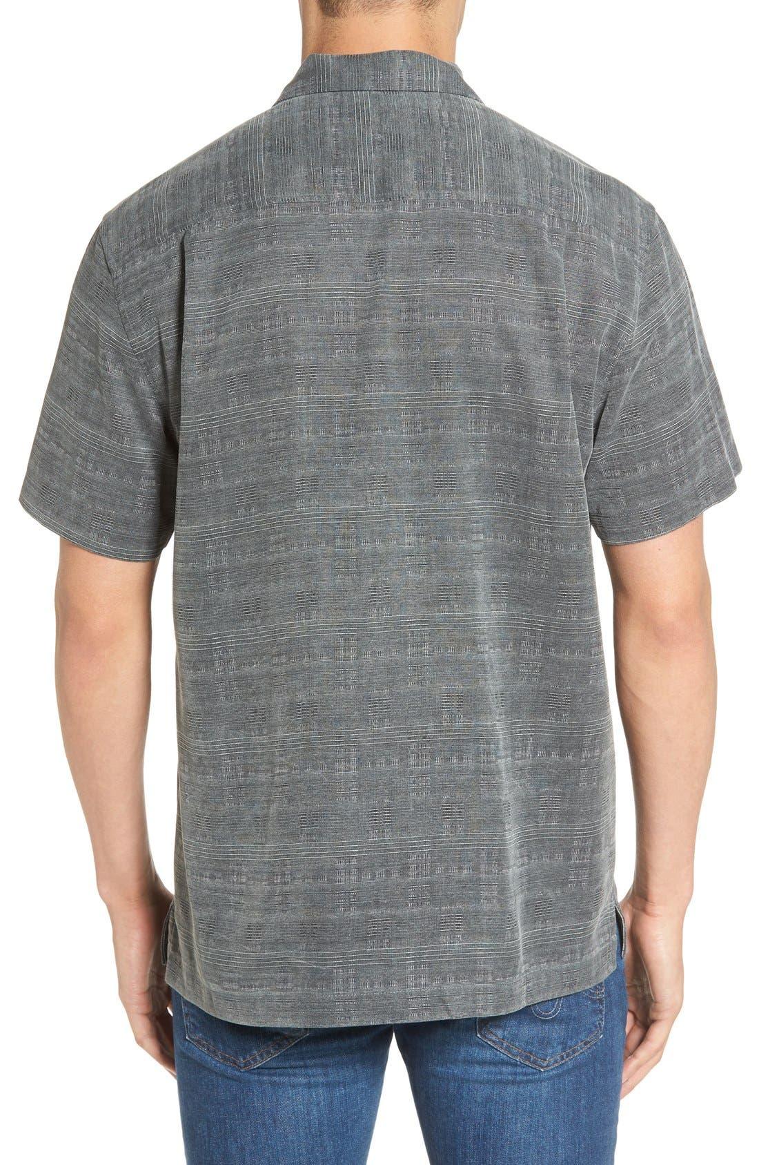 'Geo-Rific Jacquard' Original Fit Silk Camp Shirt,                             Alternate thumbnail 11, color,