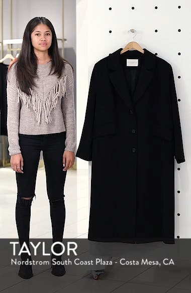 Maxi Reefer Wool Coat, sales video thumbnail
