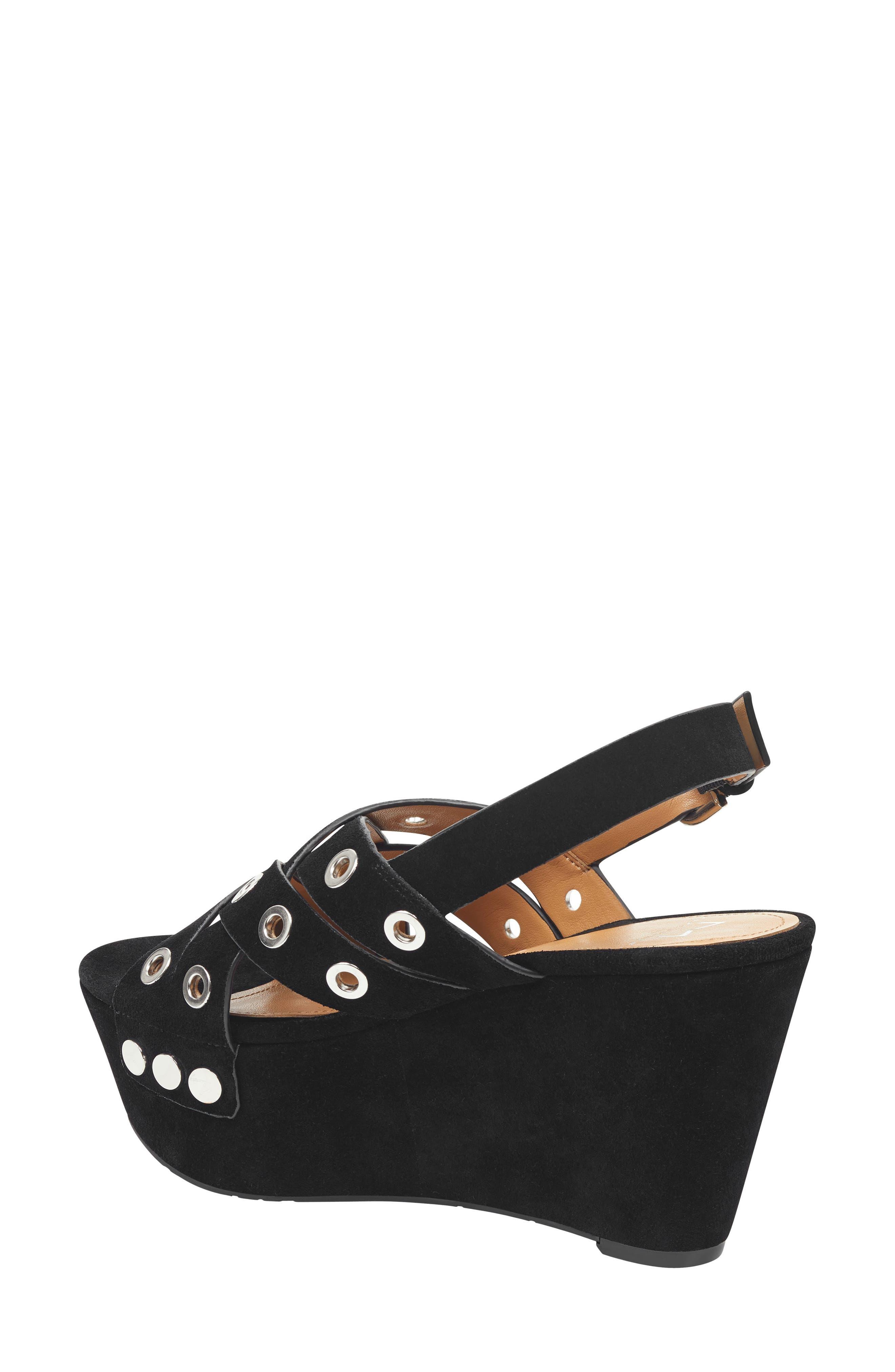 Bloom Platform Sandal,                             Alternate thumbnail 2, color,                             BLACK SUEDE