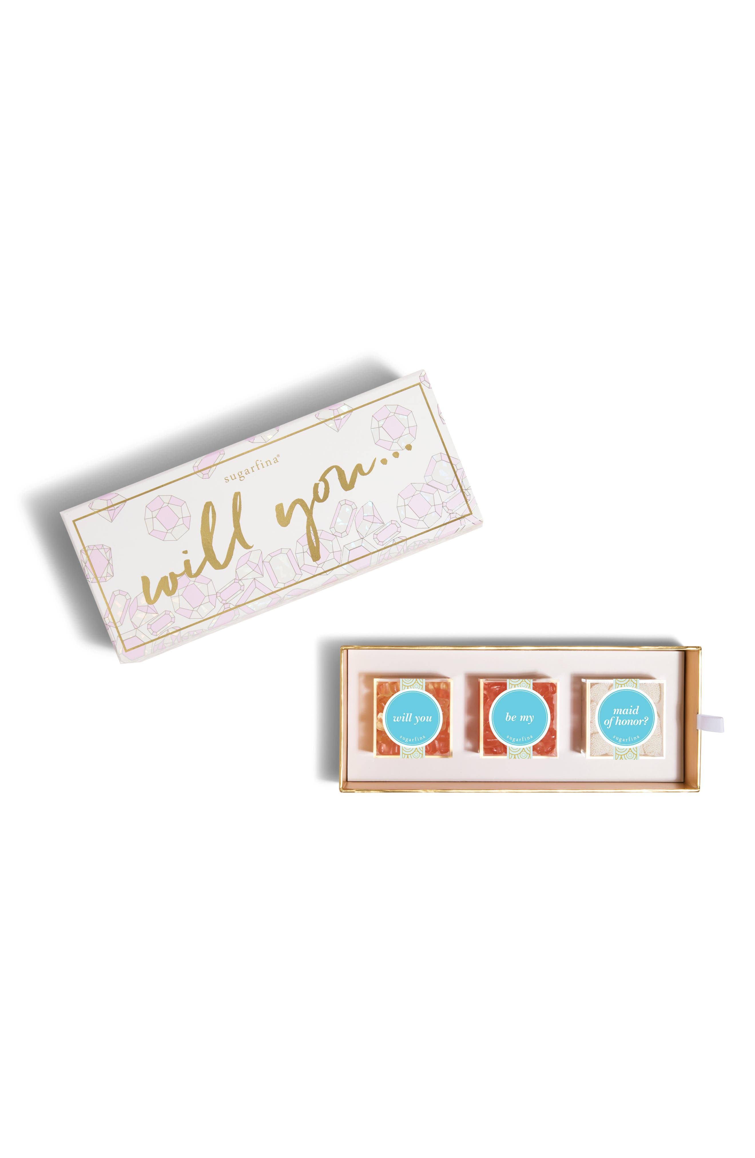 Be My Maid of Honor 3-Piece Candy Bento Box,                             Main thumbnail 1, color,                             650