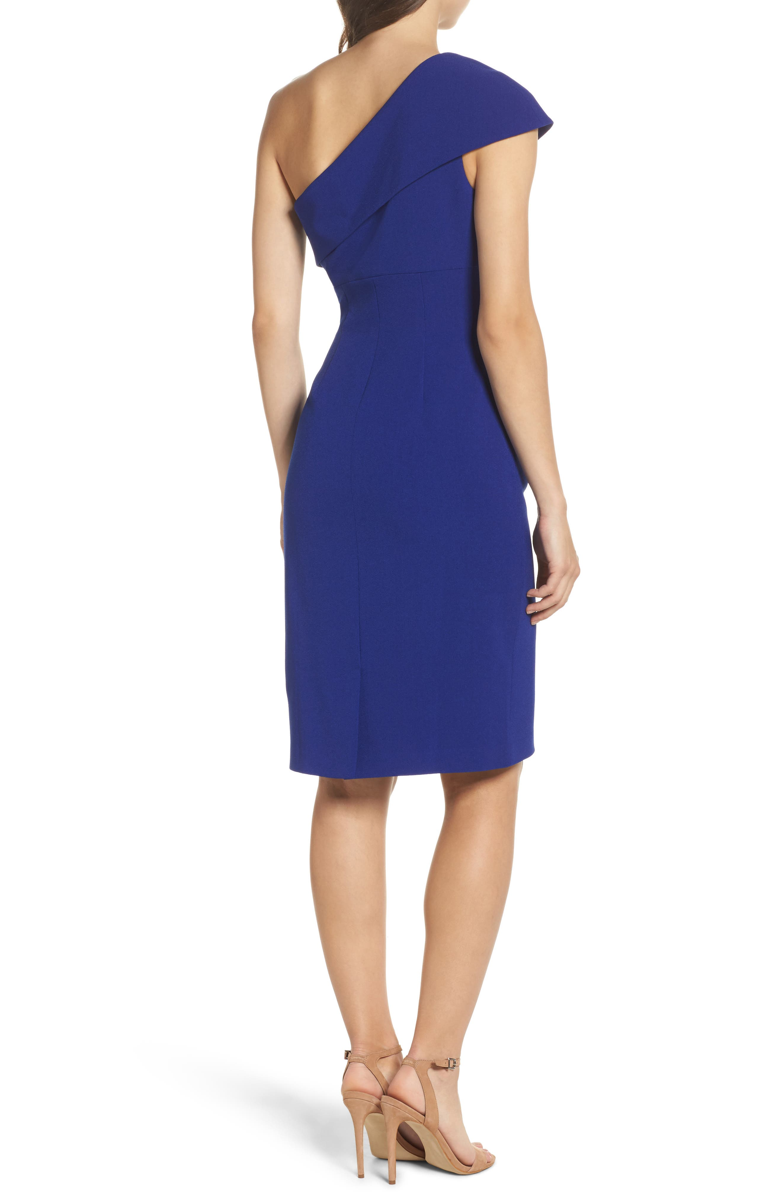 One-Shoulder Sheath Dress,                             Alternate thumbnail 2, color,