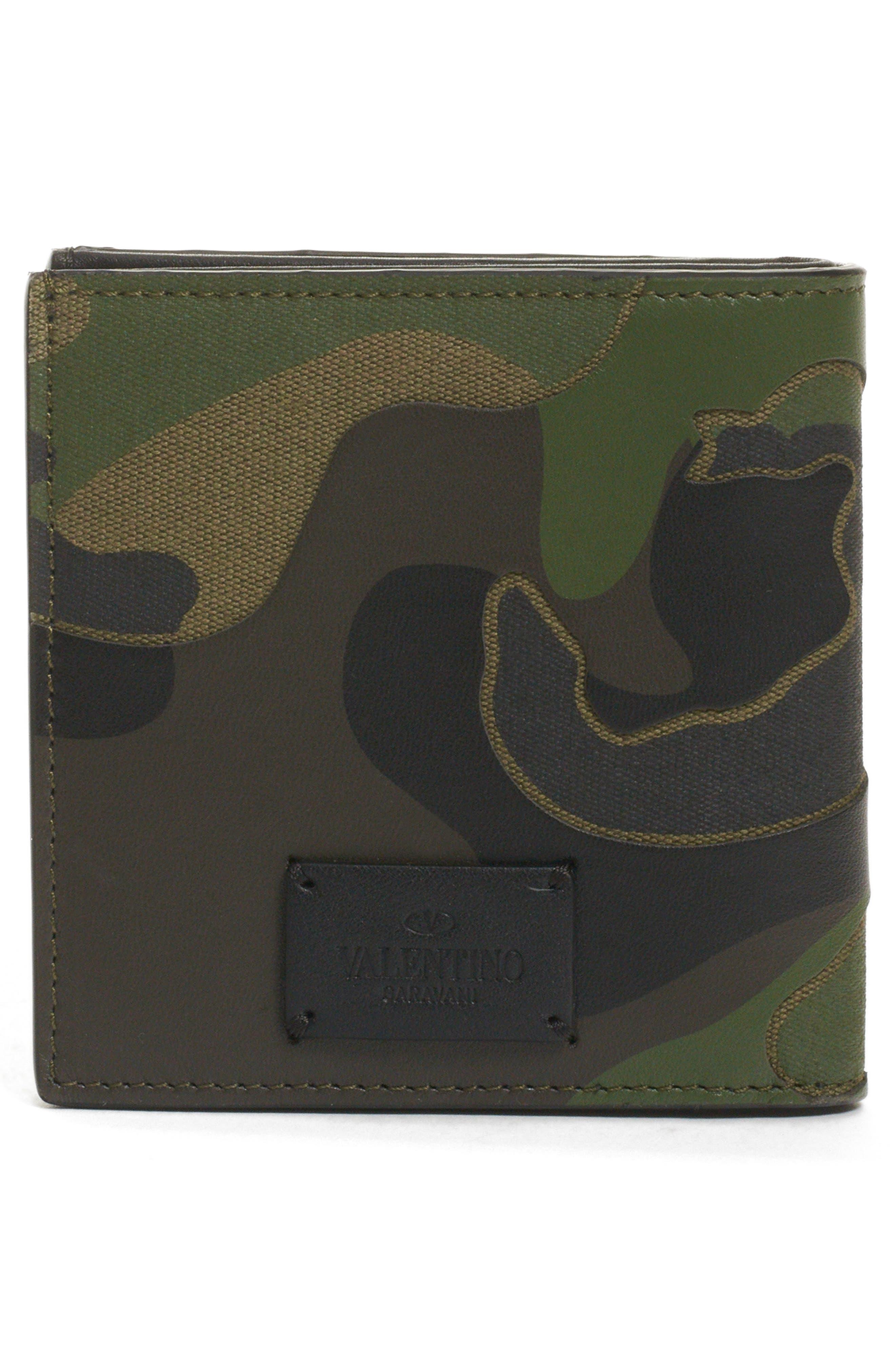 GARAVANI Camo Wallet,                             Alternate thumbnail 3, color,                             CAMO ARMY