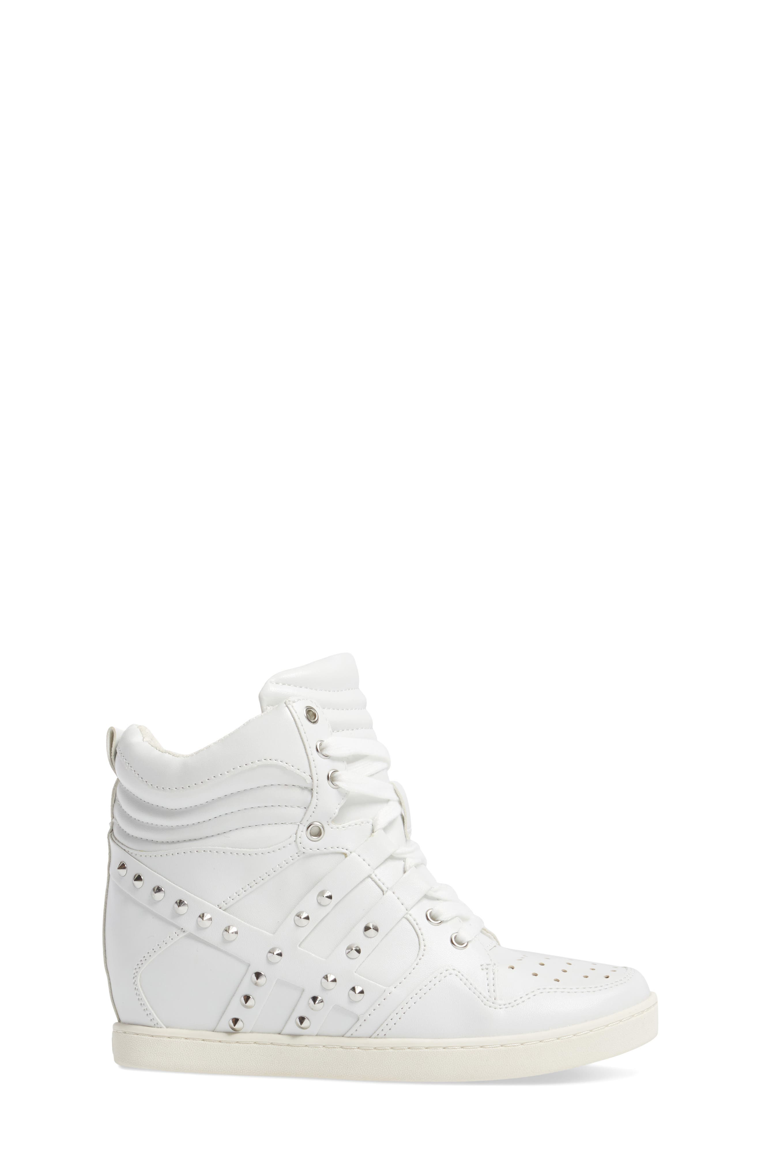 Boogie Chic Studded High Top Sneaker,                             Alternate thumbnail 6, color,