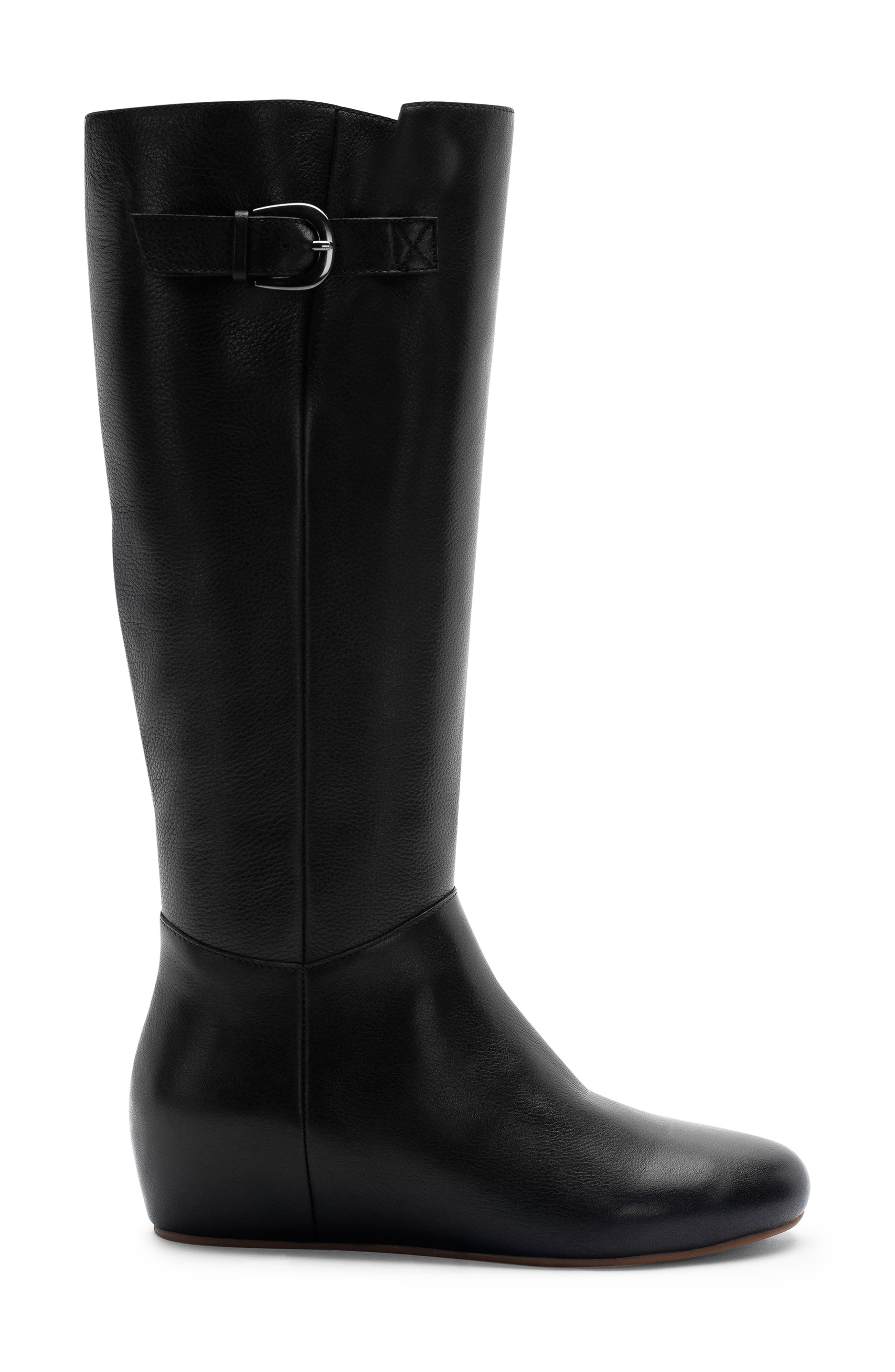 Monica Waterproof Boot,                             Alternate thumbnail 3, color,                             BLACK LEATHER