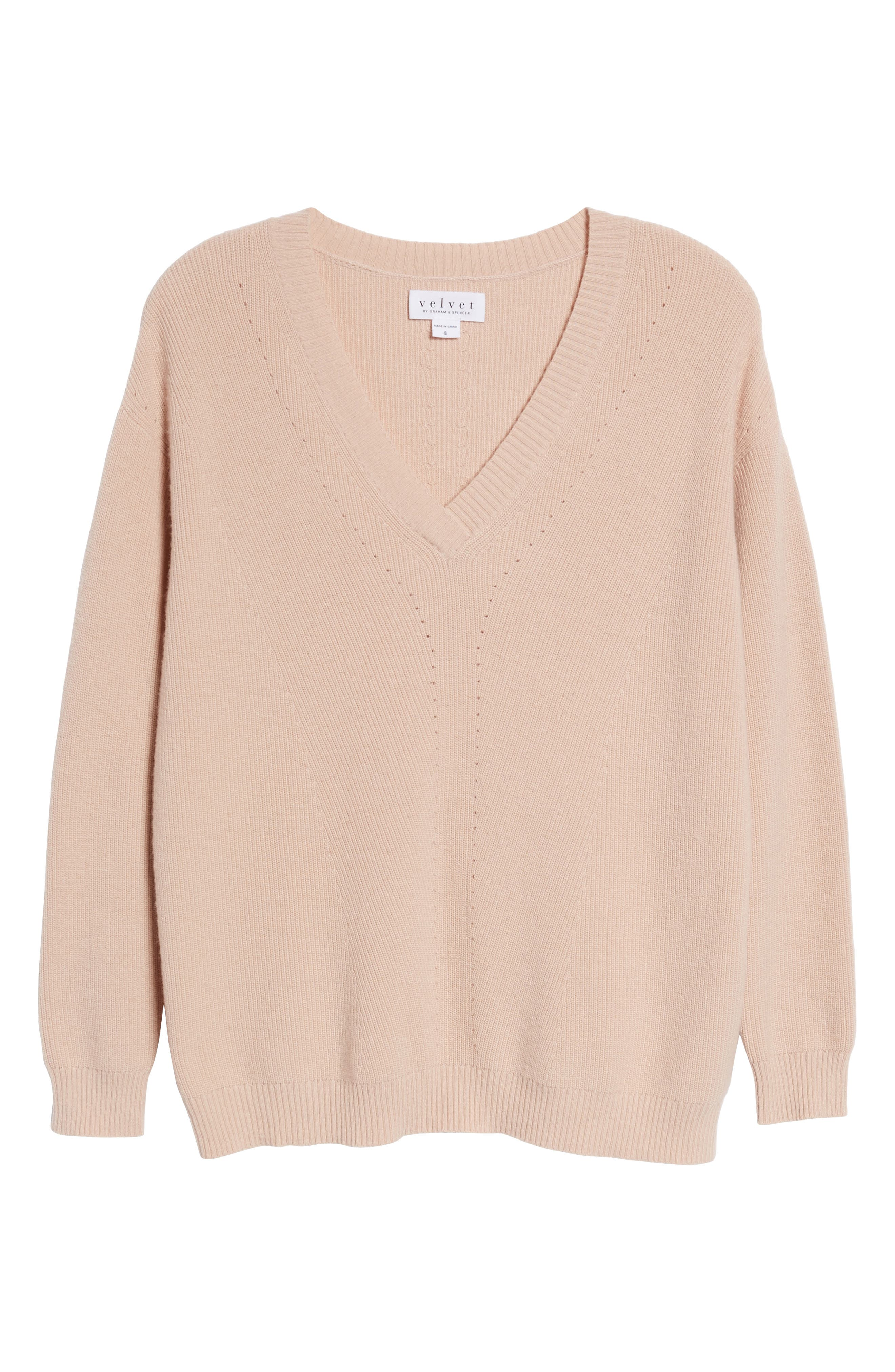 V-Neck Sweater,                             Alternate thumbnail 6, color,