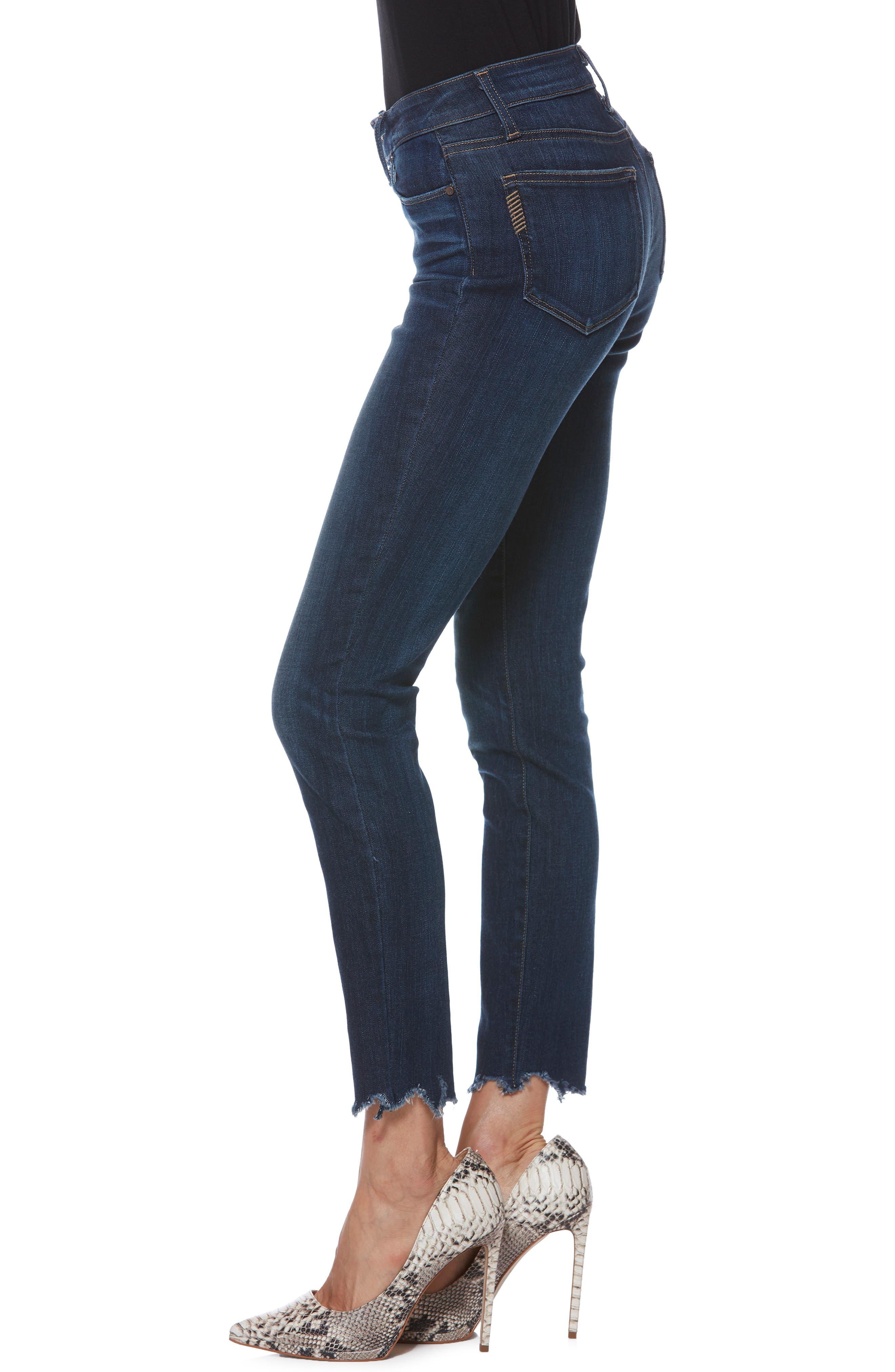 Verdugo Transcend Vintage Ankle Skinny Jeans,                             Alternate thumbnail 3, color,                             400