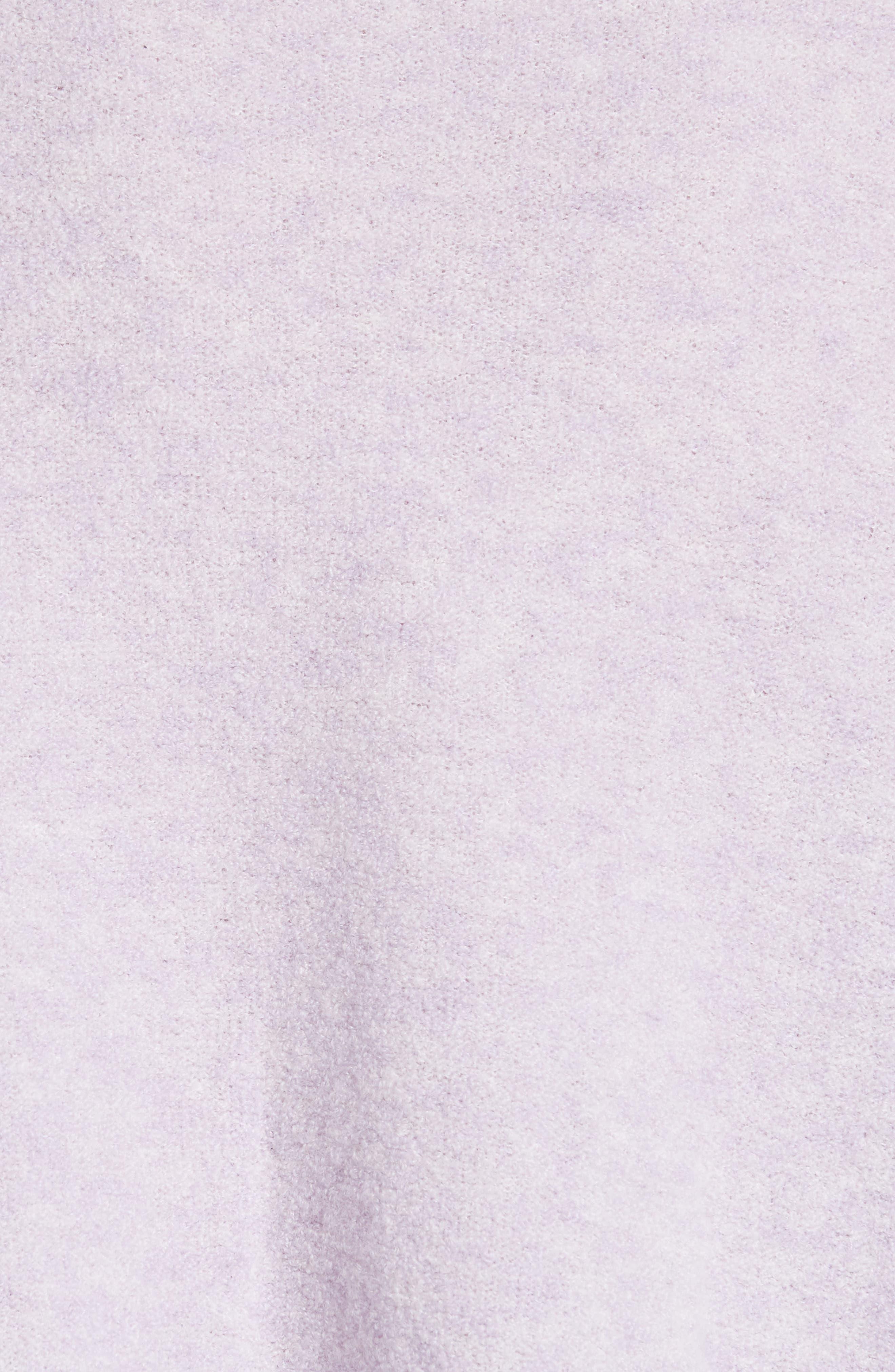 Cashmere Blend Bouclé Sweater,                             Alternate thumbnail 5, color,                             PURPLE HEIRLOOM HEATHER