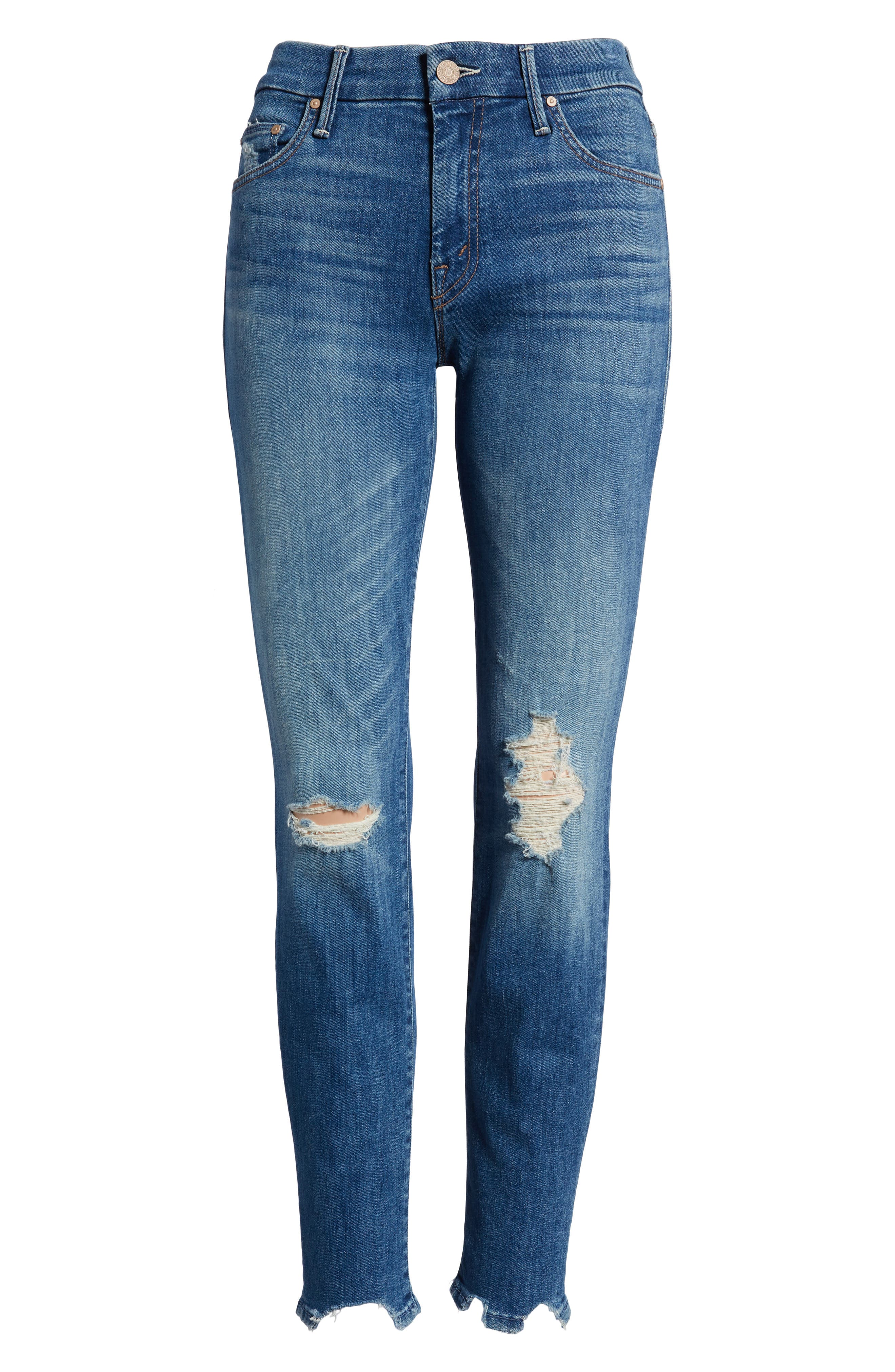 The Looker Chew Hem Ankle Skinny Jeans,                             Alternate thumbnail 7, color,                             400