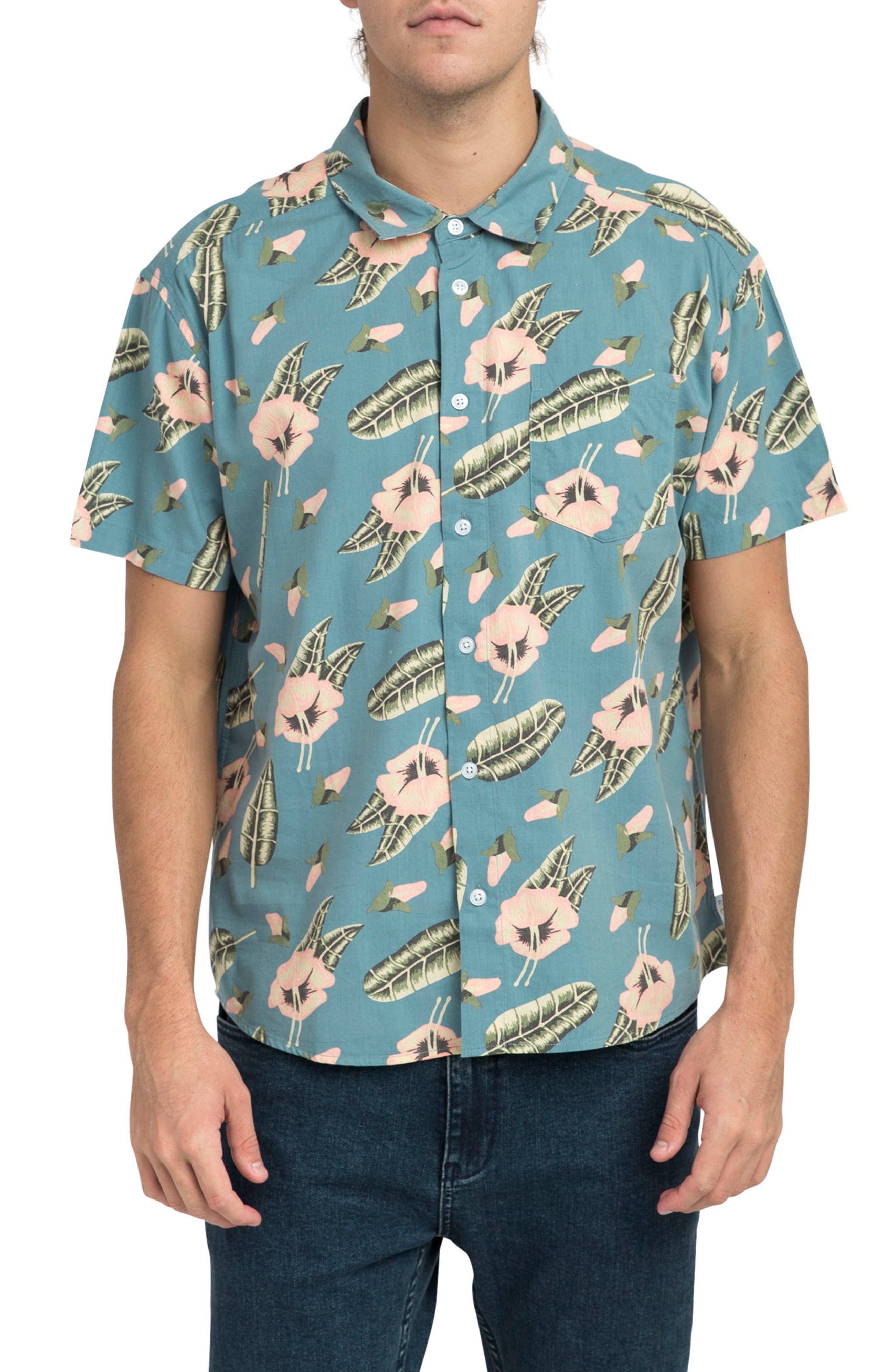 Pelletier Tropic Short Sleeve Shirt,                             Main thumbnail 1, color,