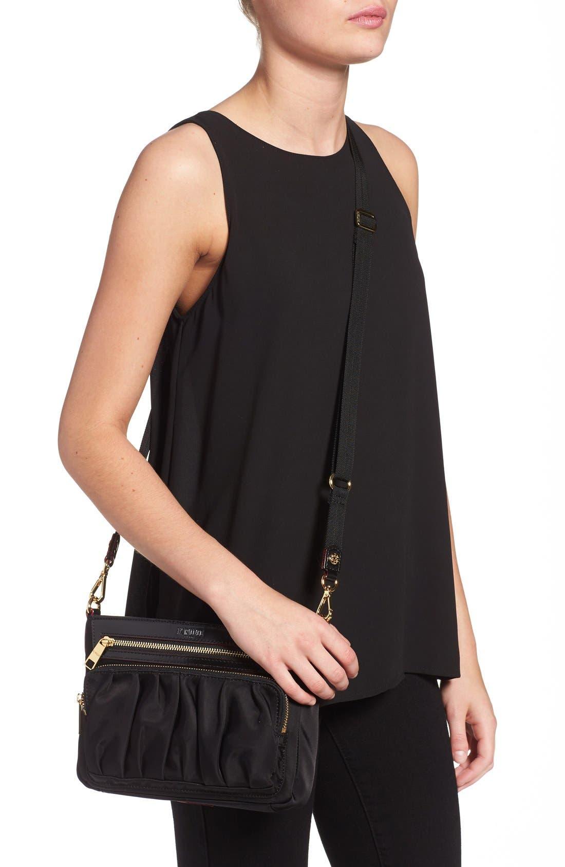 Abbey Crossbody Bag,                             Alternate thumbnail 7, color,                             BLACK BEDFORD