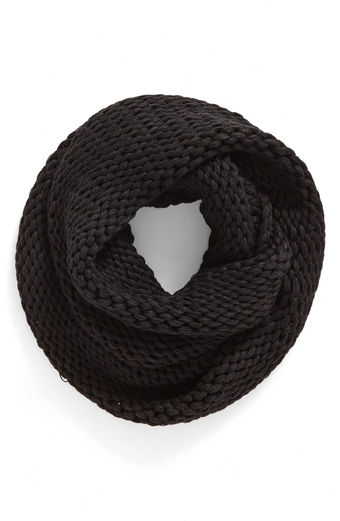 Knit Infinity Scarf,                         Main,                         color, 001