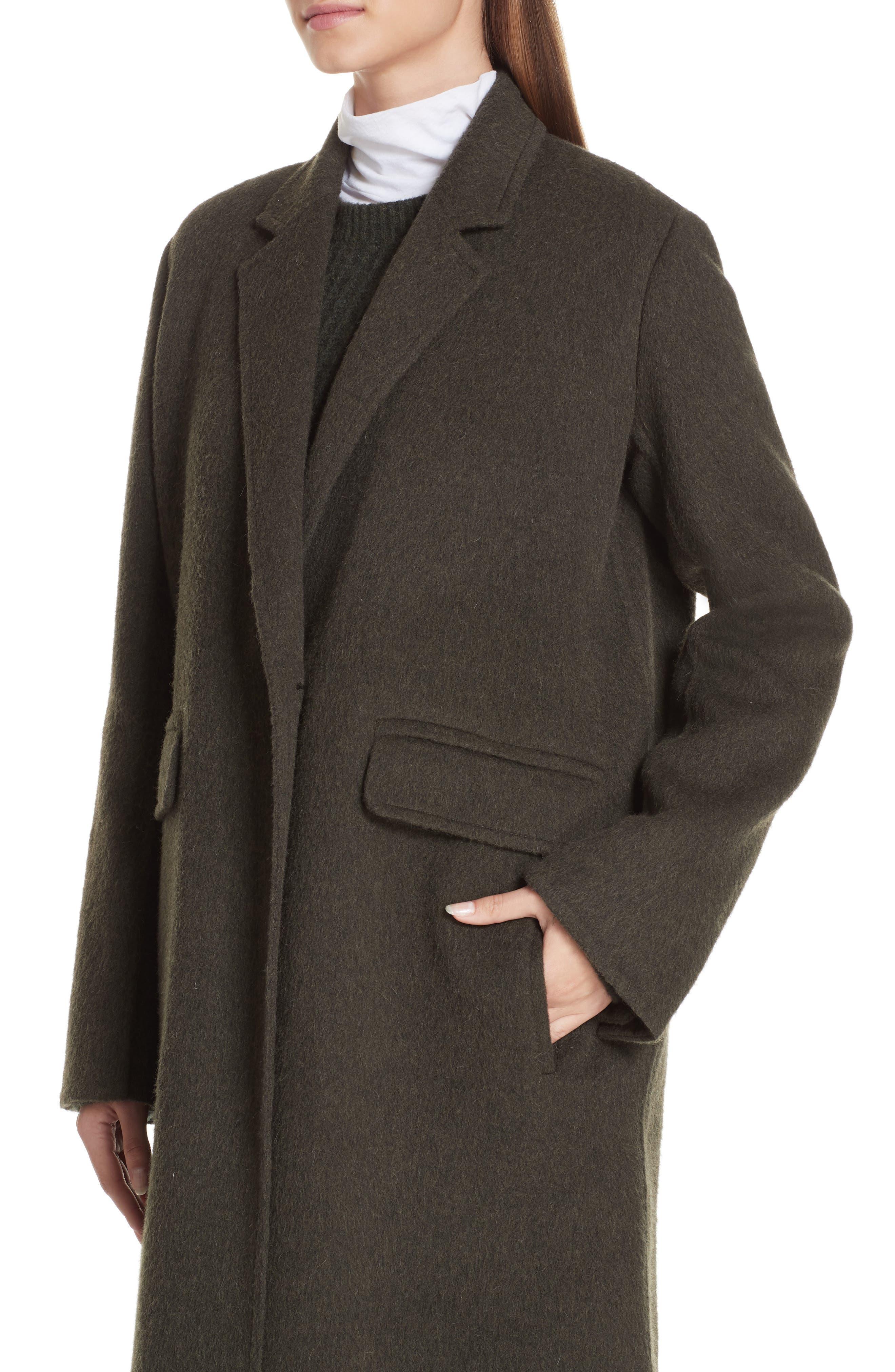 VINCE,                             Long Wool Alpaca Blend Coat,                             Alternate thumbnail 5, color,                             341