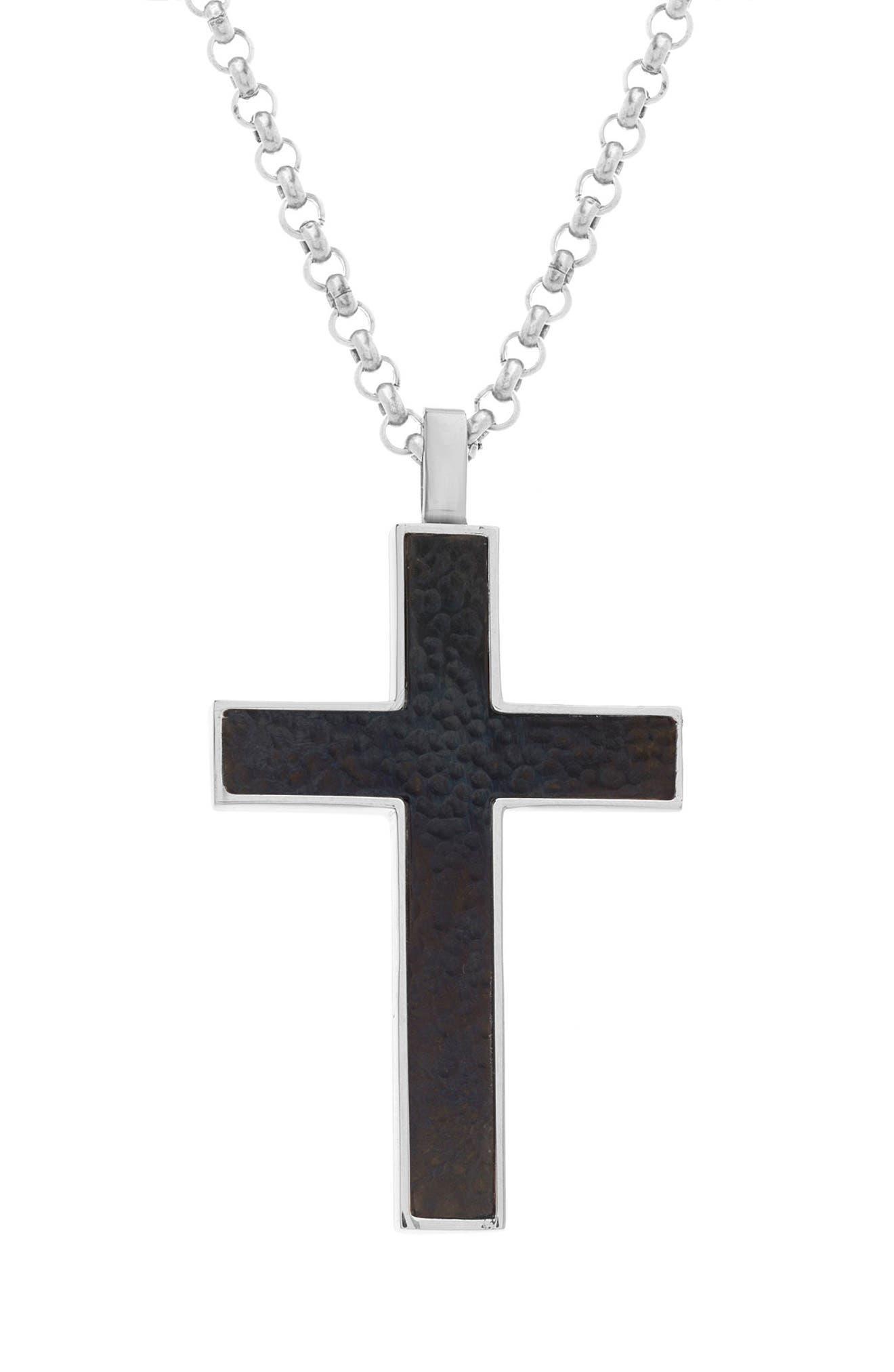 Cross Pendant Necklace,                             Main thumbnail 1, color,