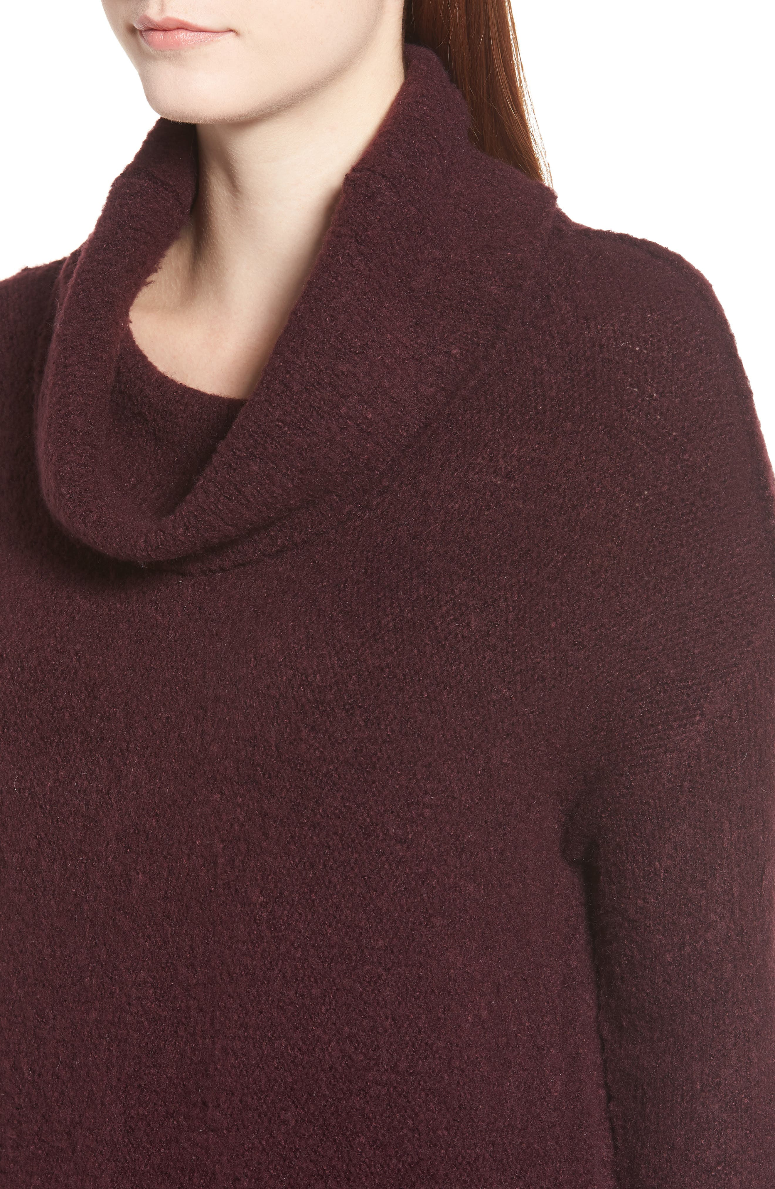 Tunic Sweater,                             Alternate thumbnail 4, color,                             BURGUNDY FIG