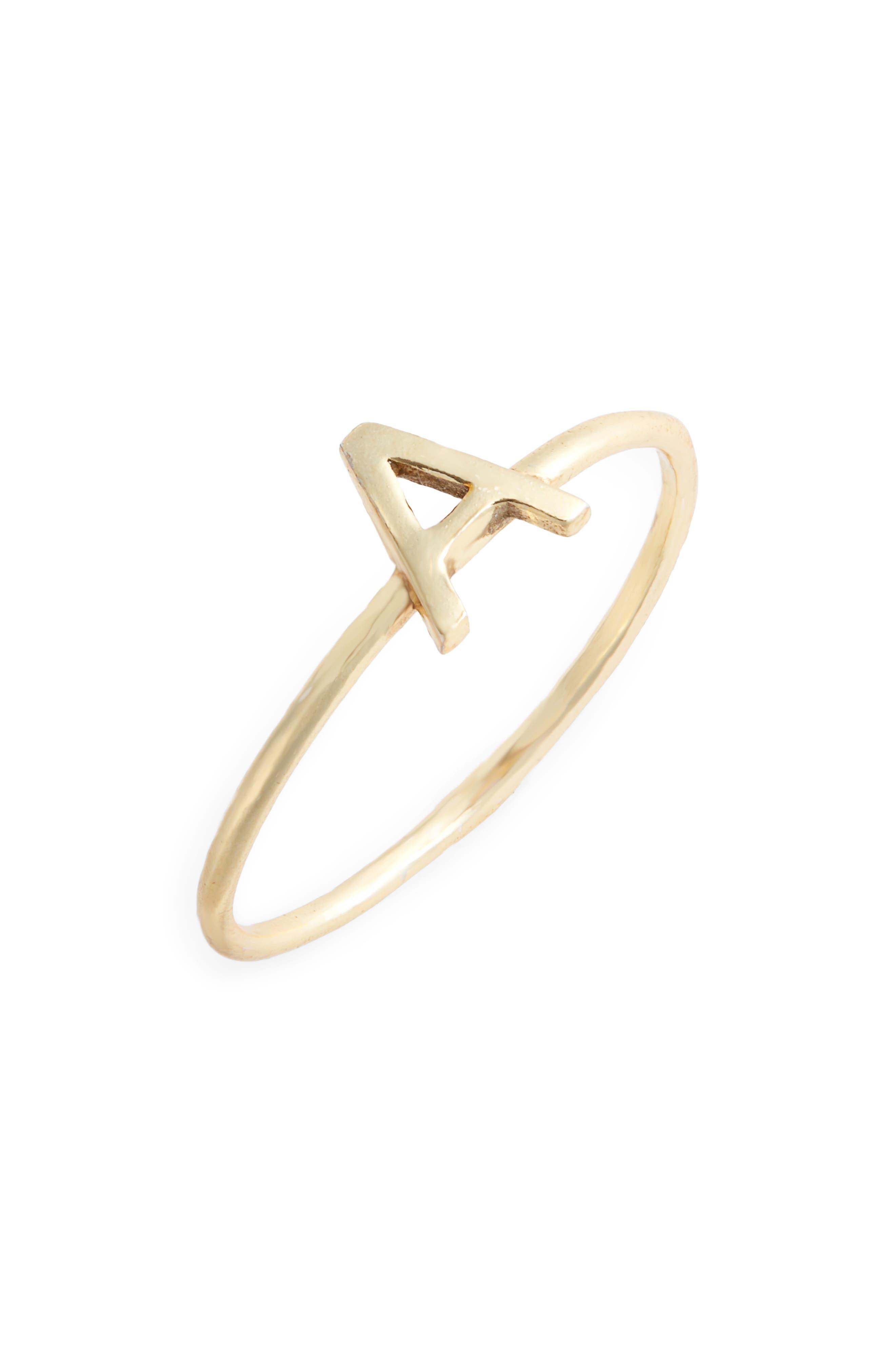 Alphabet Ring,                         Main,                         color, A/ GOLD