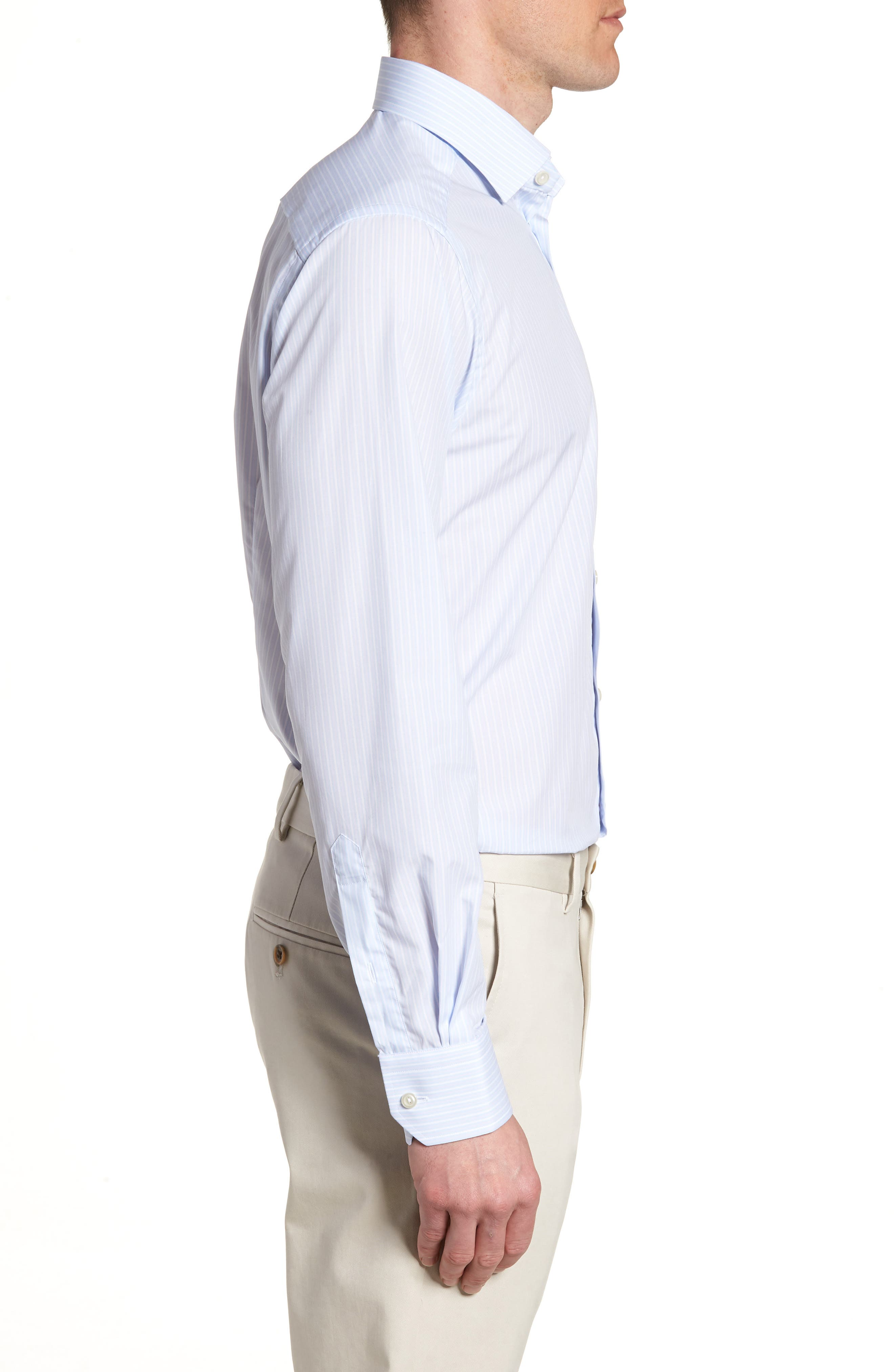 Contemporary Fit Stripe Dress Shirt,                             Alternate thumbnail 4, color,                             650