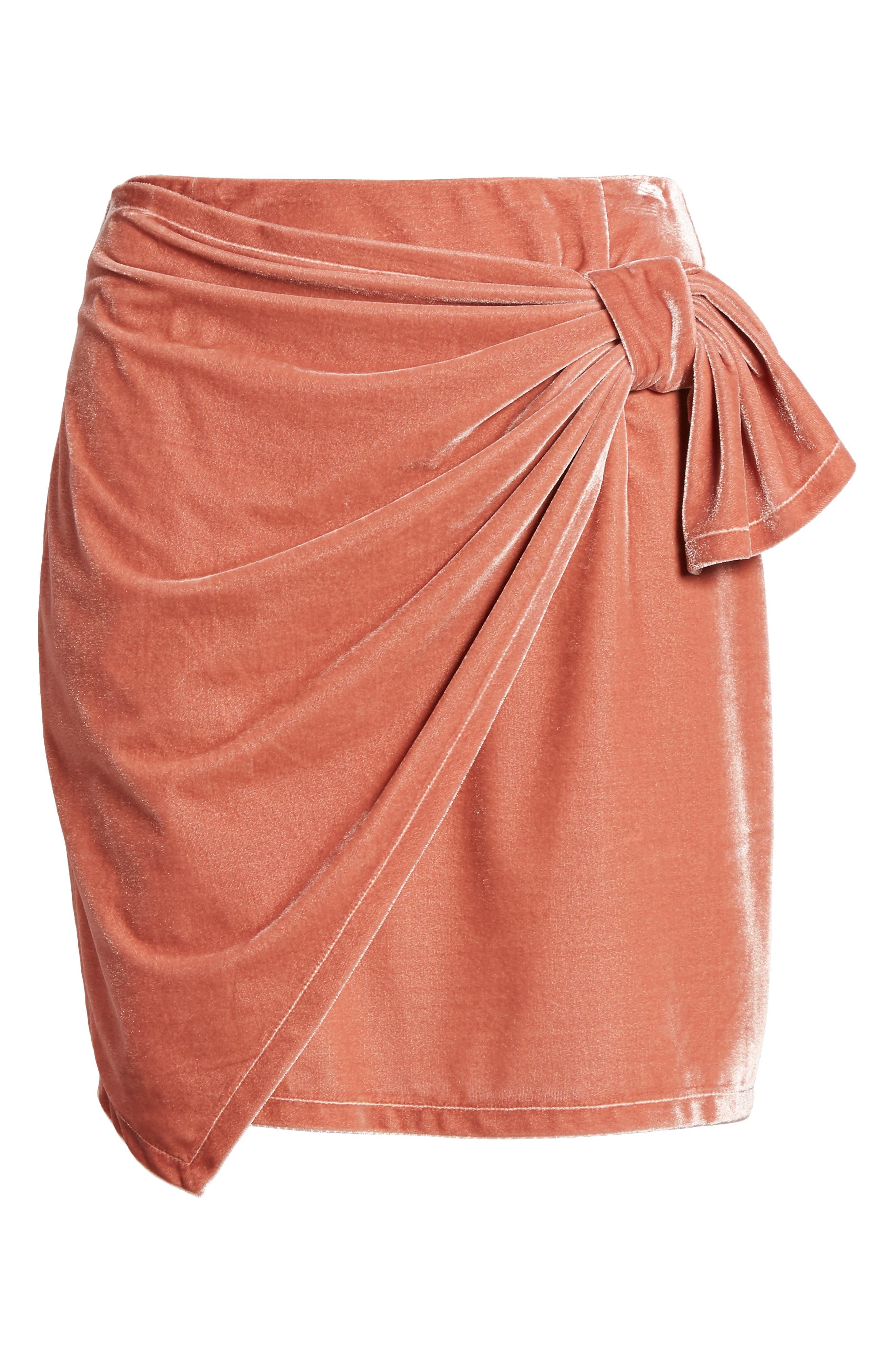 Katie Faux Wrap Skirt,                             Alternate thumbnail 6, color,