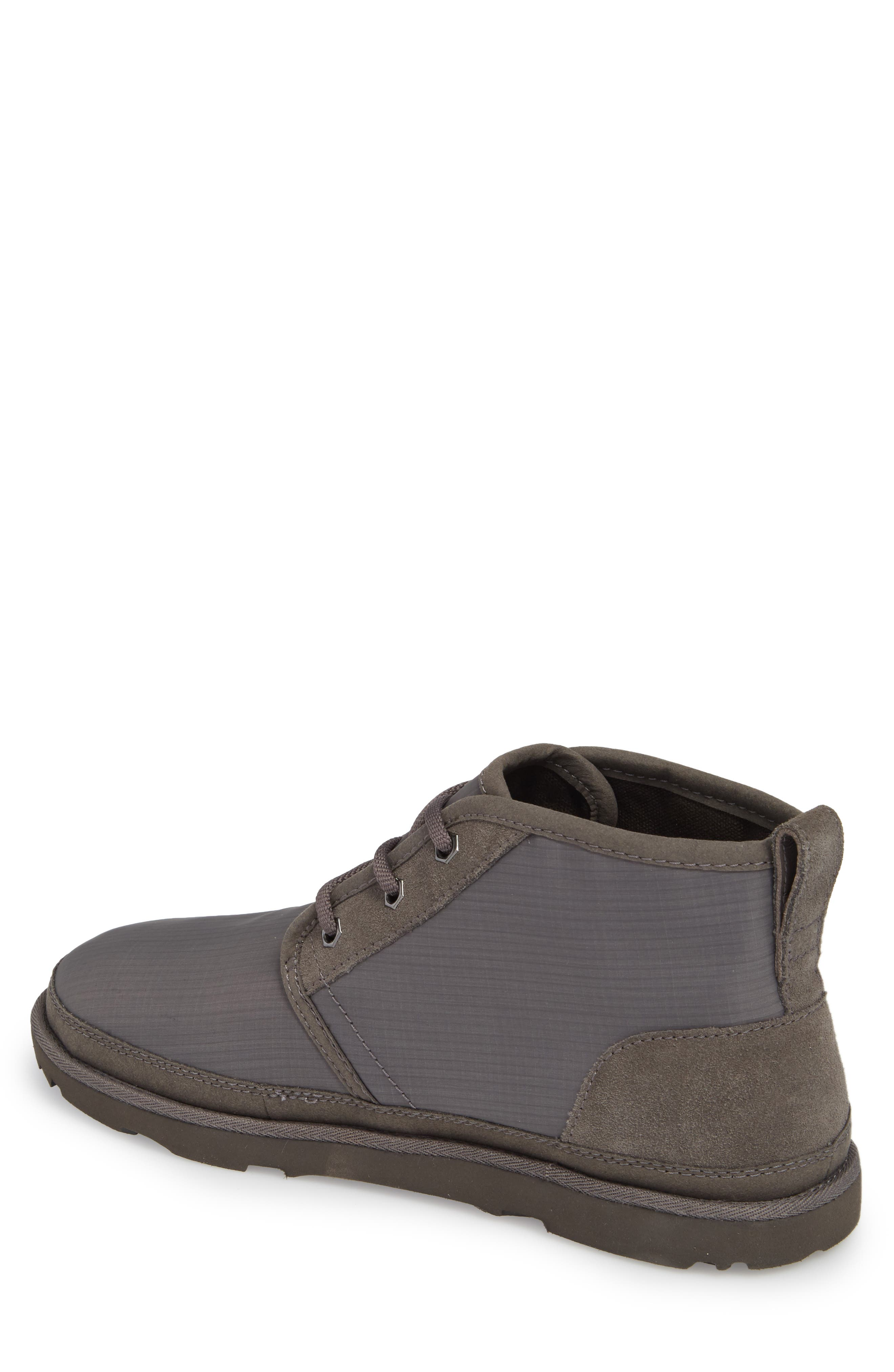 Neumel Ripstop Chukka Boot,                             Alternate thumbnail 2, color,                             CHARCOAL LEATHER