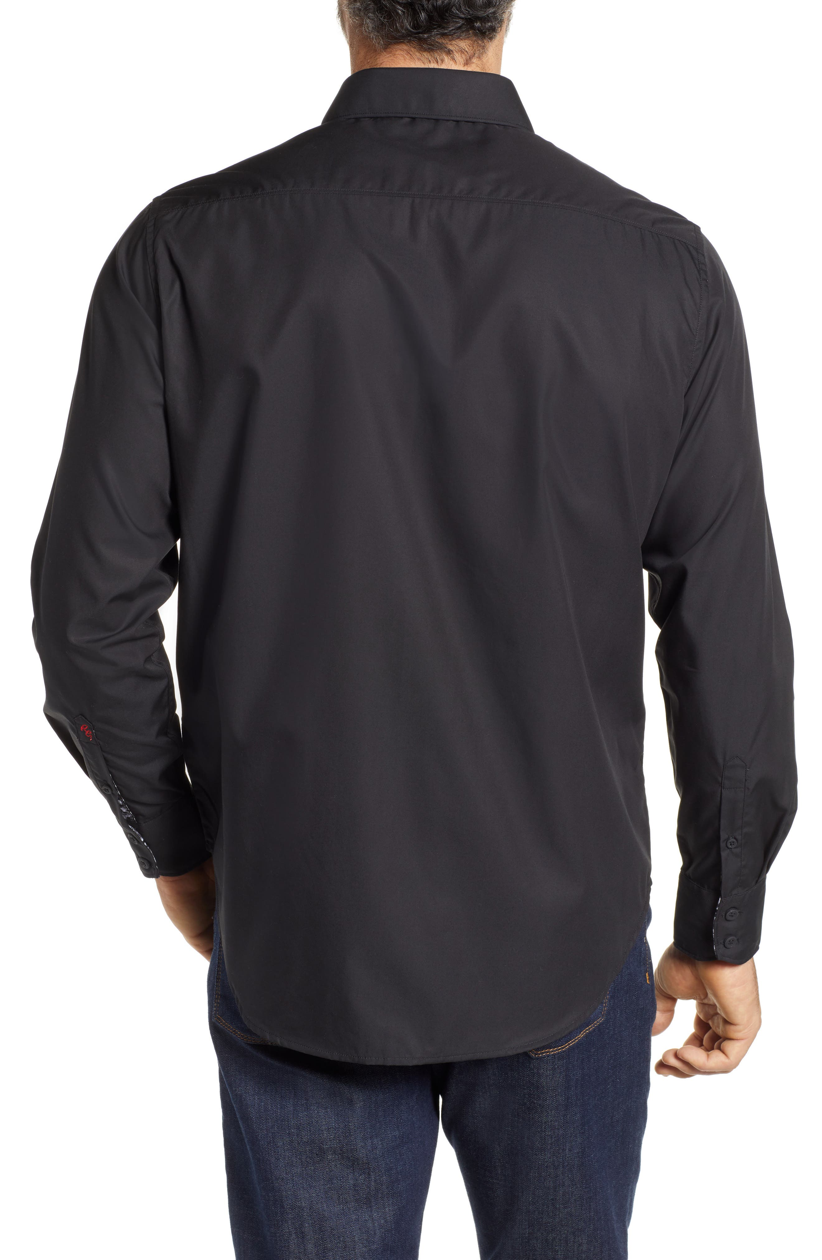 Onyx Classic Fit Embroidered Sport Shirt,                             Alternate thumbnail 2, color,                             001
