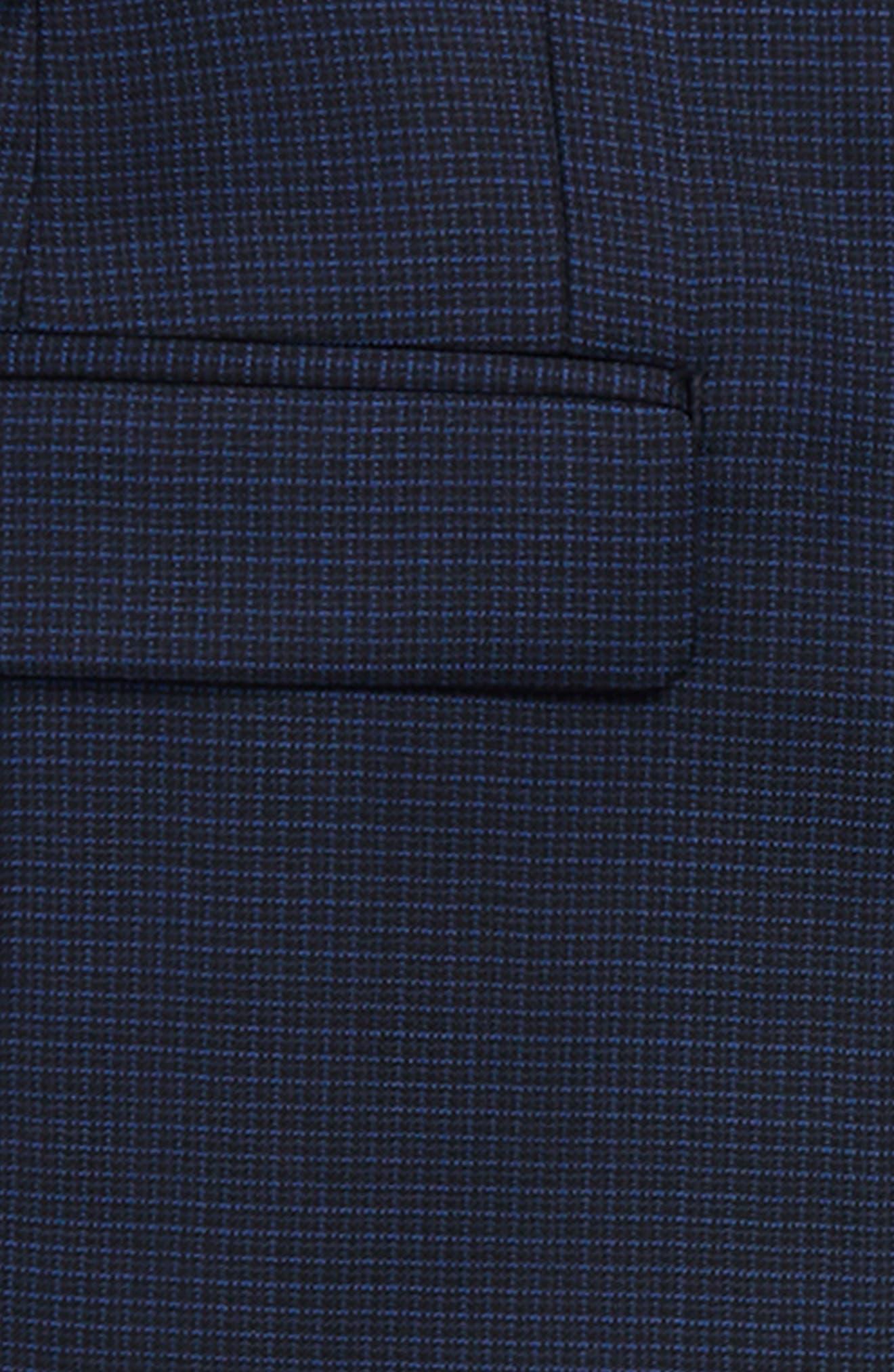 Mini Grid Wool Suit,                             Alternate thumbnail 2, color,                             BLACK/ BLUE