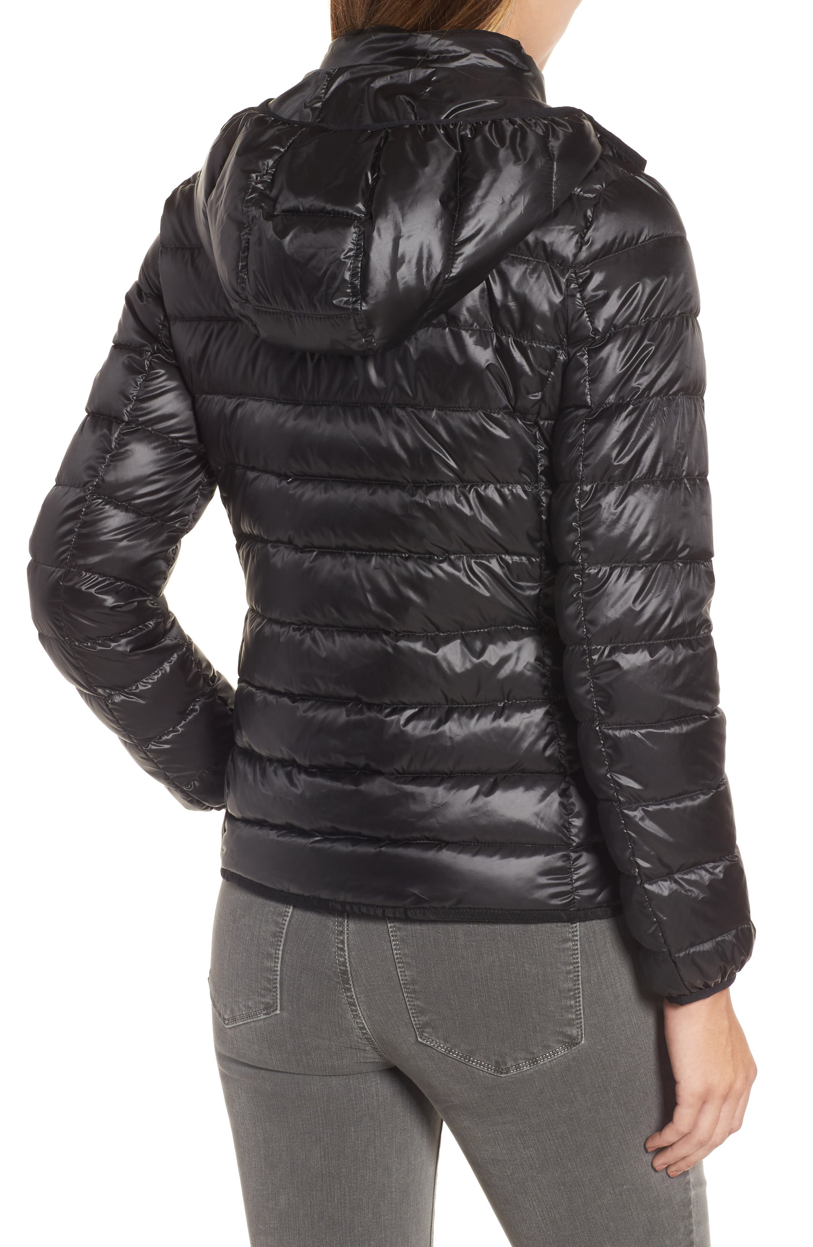 Packable Insulated Jacket with Removable Hood,                             Alternate thumbnail 2, color,                             001