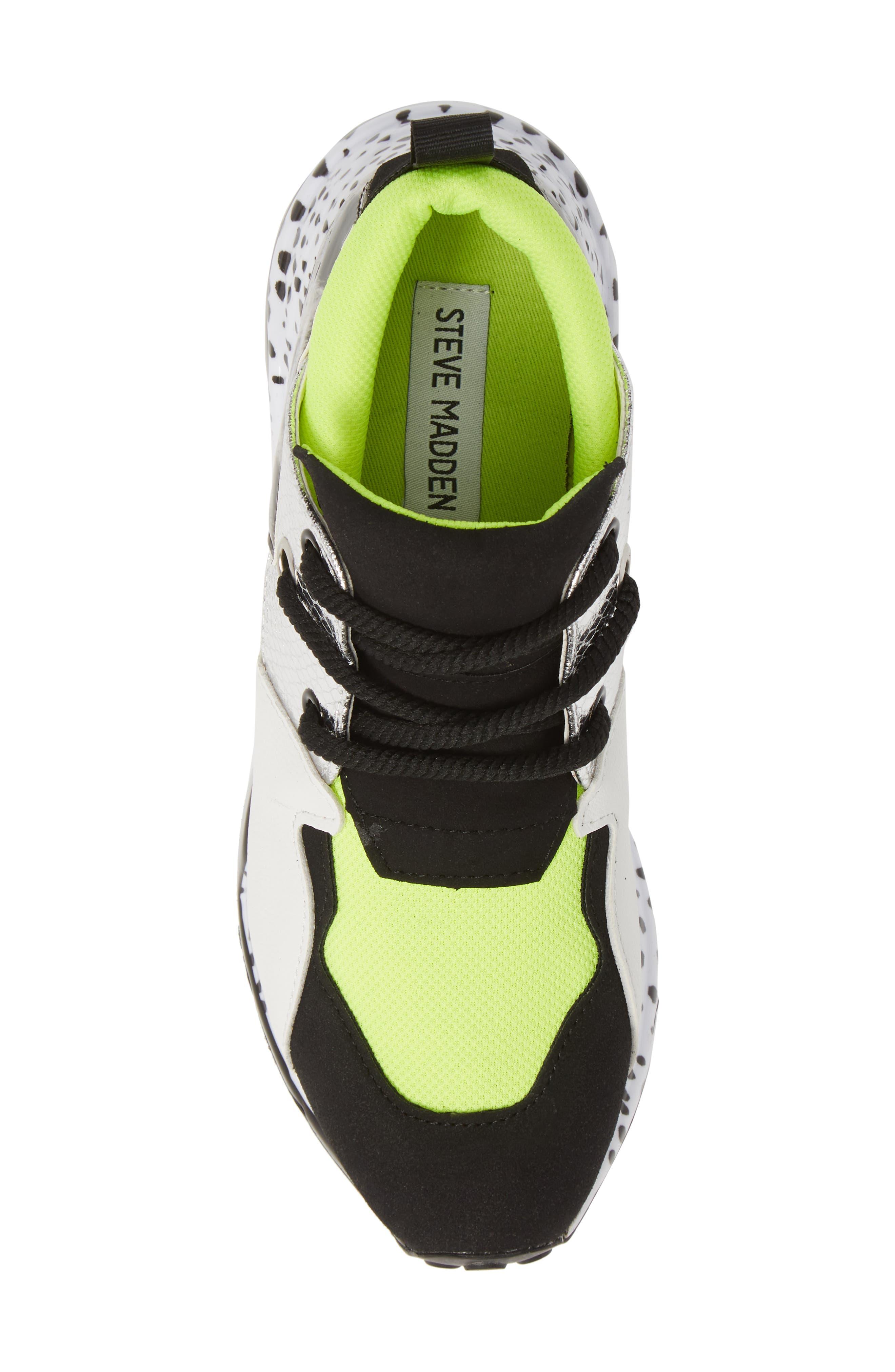 Cliff Sneaker,                             Alternate thumbnail 5, color,                             NEON GREEN