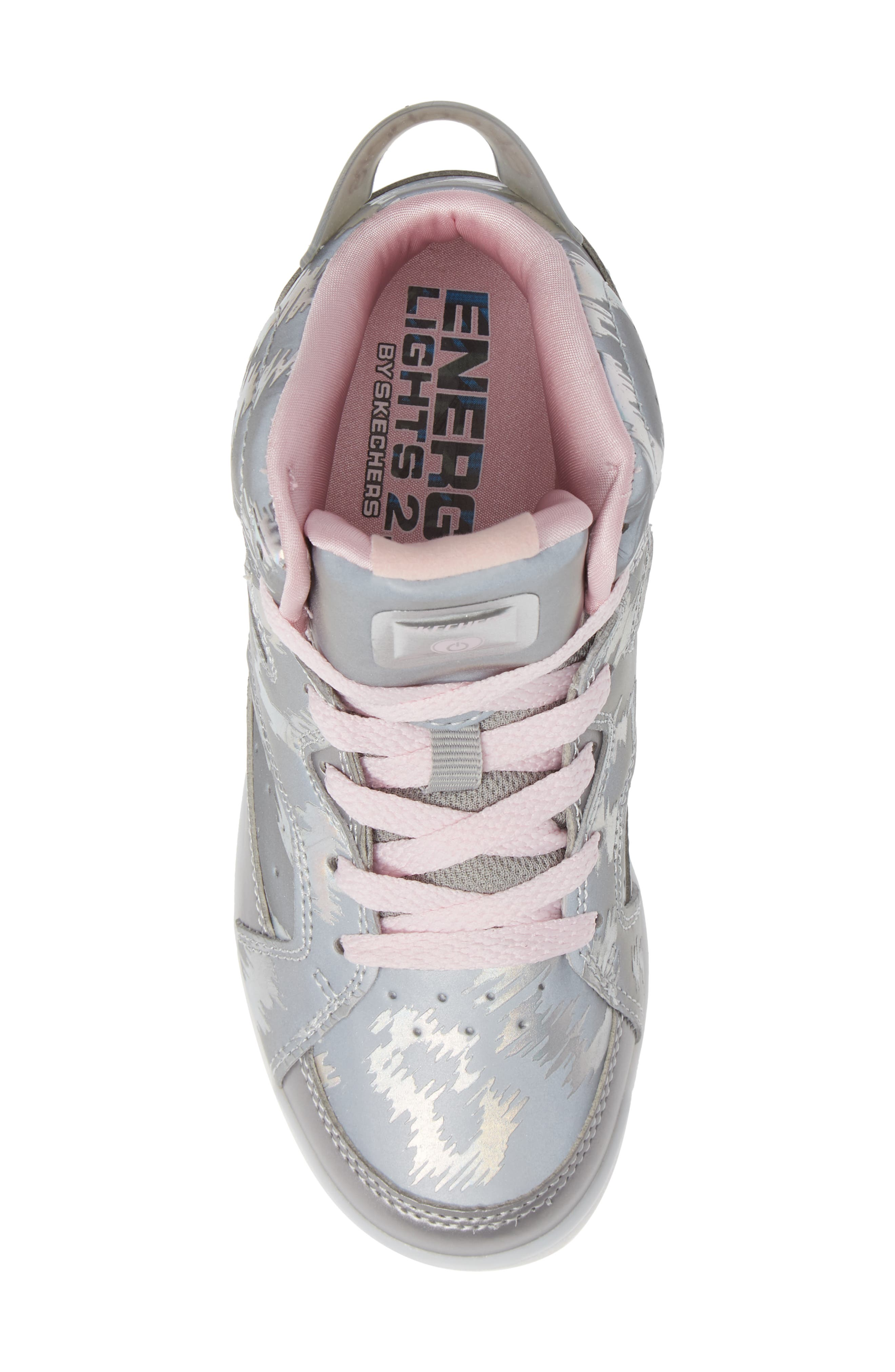 Energy Lights Pro Reflecti-Fab Sneaker,                             Alternate thumbnail 5, color,                             SILVER