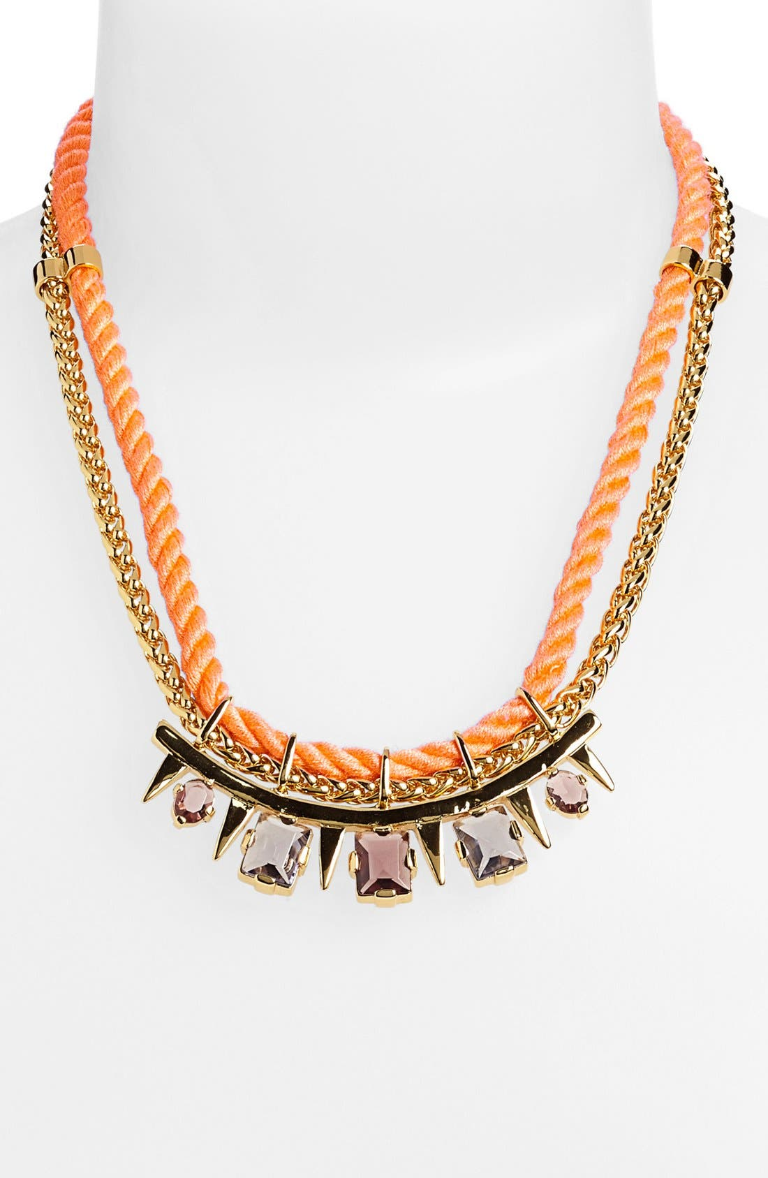 'Rope Royalty' Bib Necklace,                             Alternate thumbnail 2, color,                             800