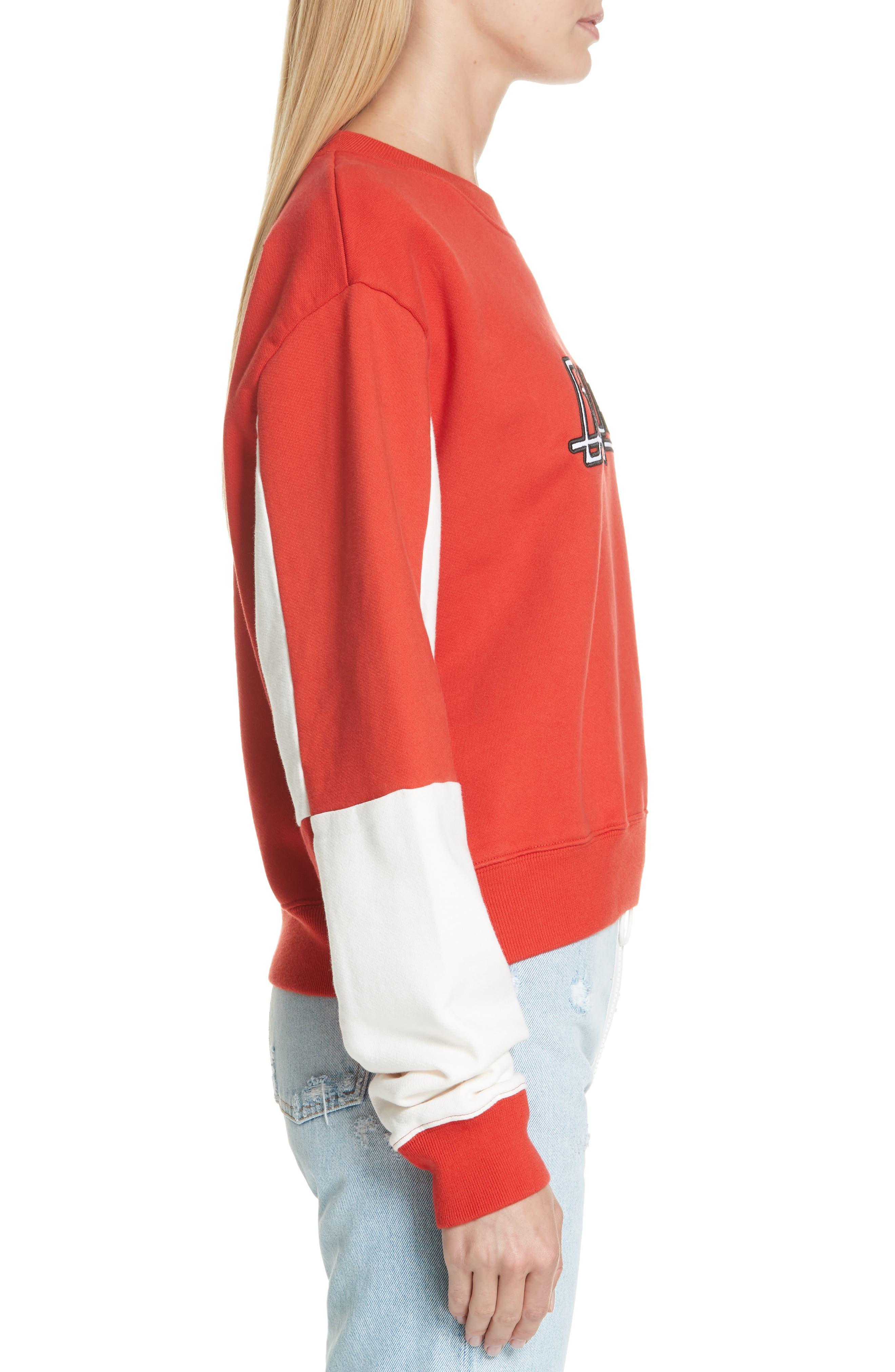 Jockey Checkerboard Crewneck Sweatshirt,                             Alternate thumbnail 3, color,                             600