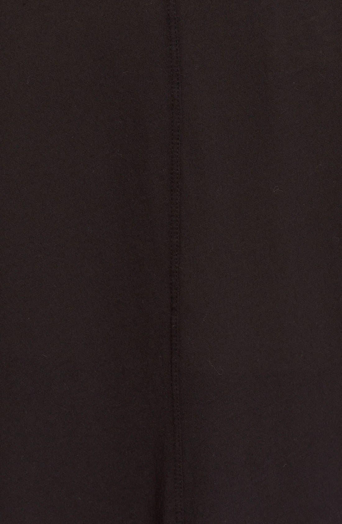 Oversize Pima Cotton Tee,                             Alternate thumbnail 4, color,                             001