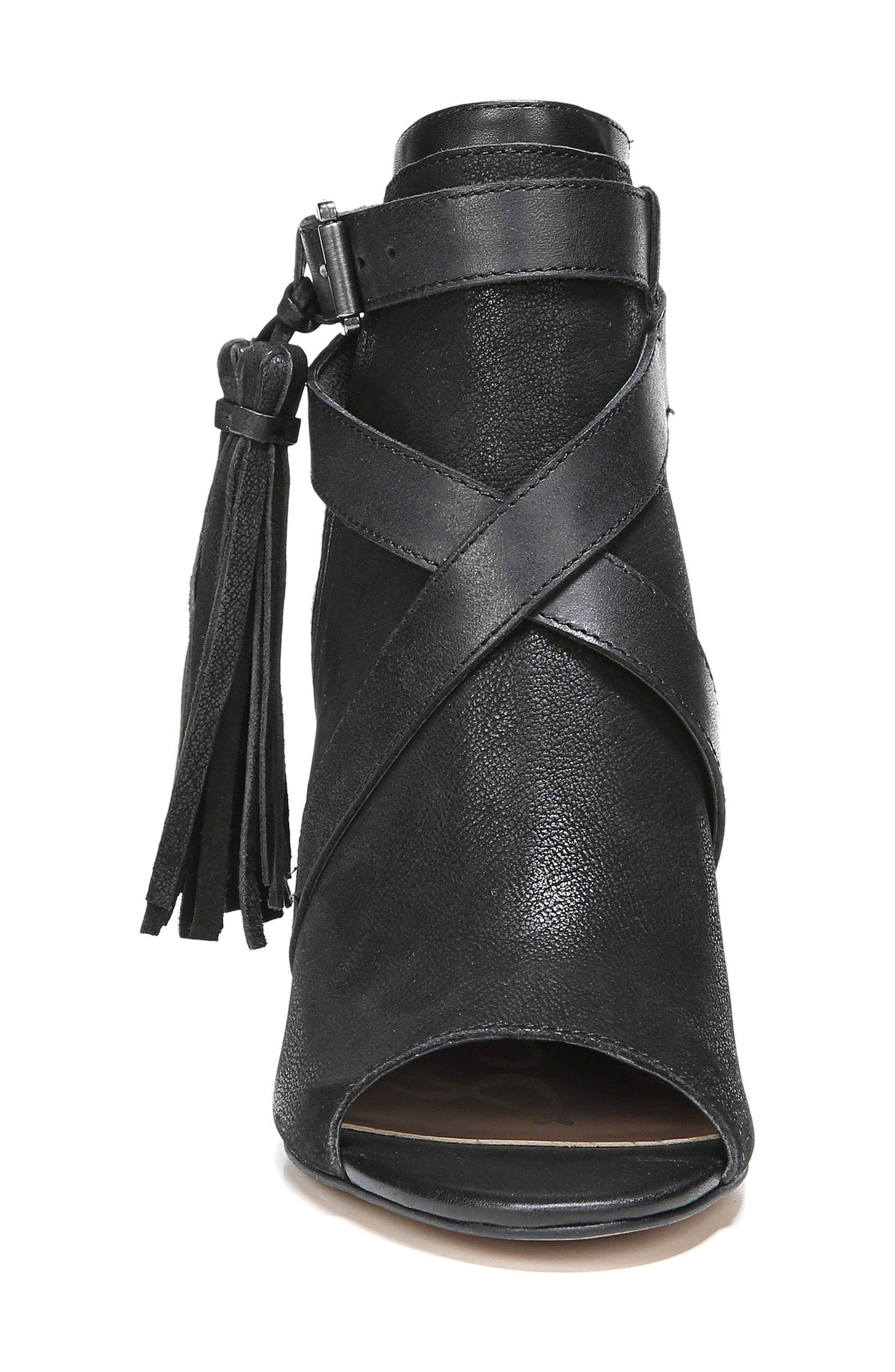 Vermont Block Heel Sandal,                             Alternate thumbnail 4, color,                             001