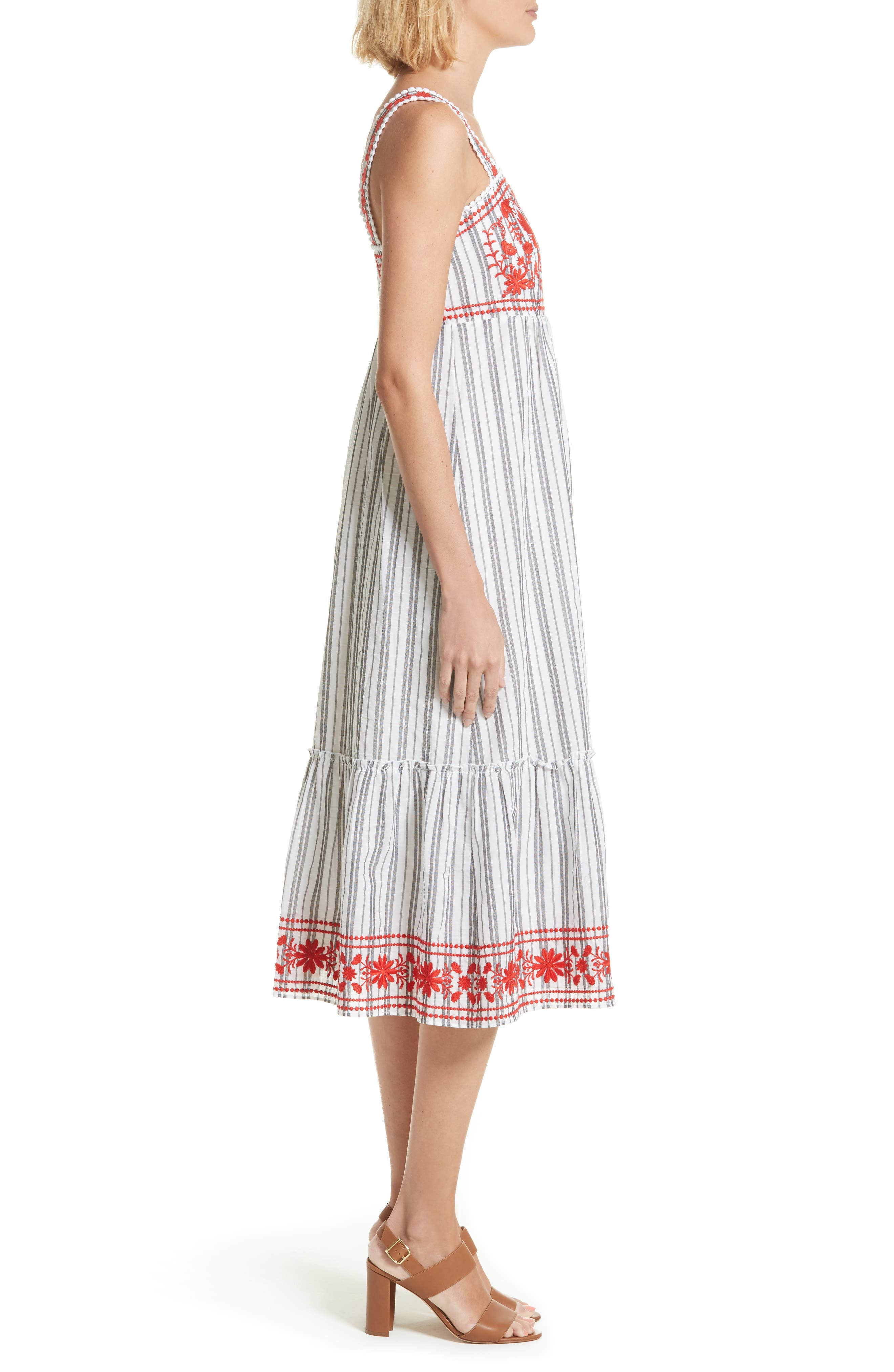 embroidered sundress,                             Alternate thumbnail 3, color,                             146