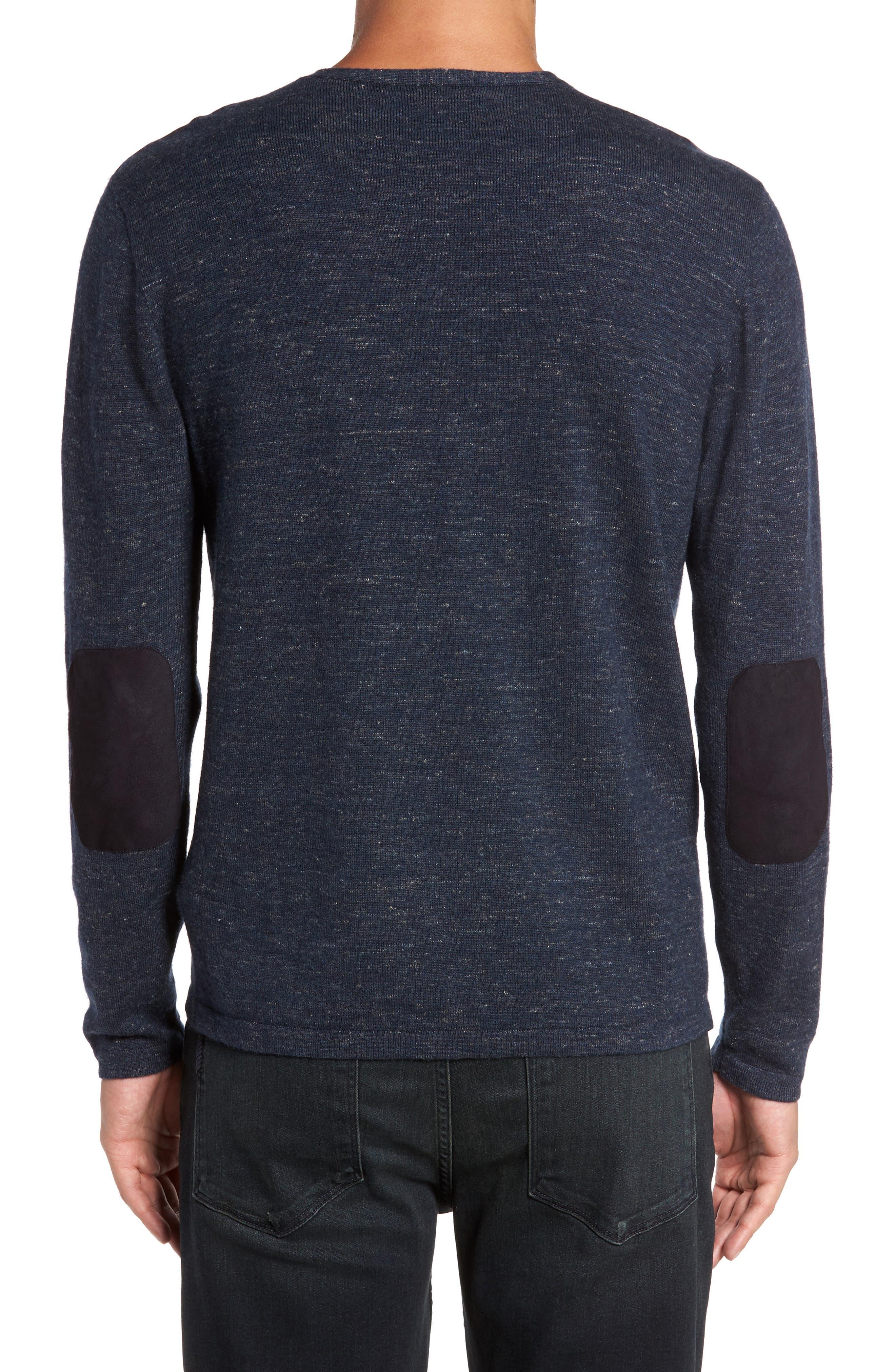 Long Sleeve V-Neck Sweater,                             Alternate thumbnail 5, color,
